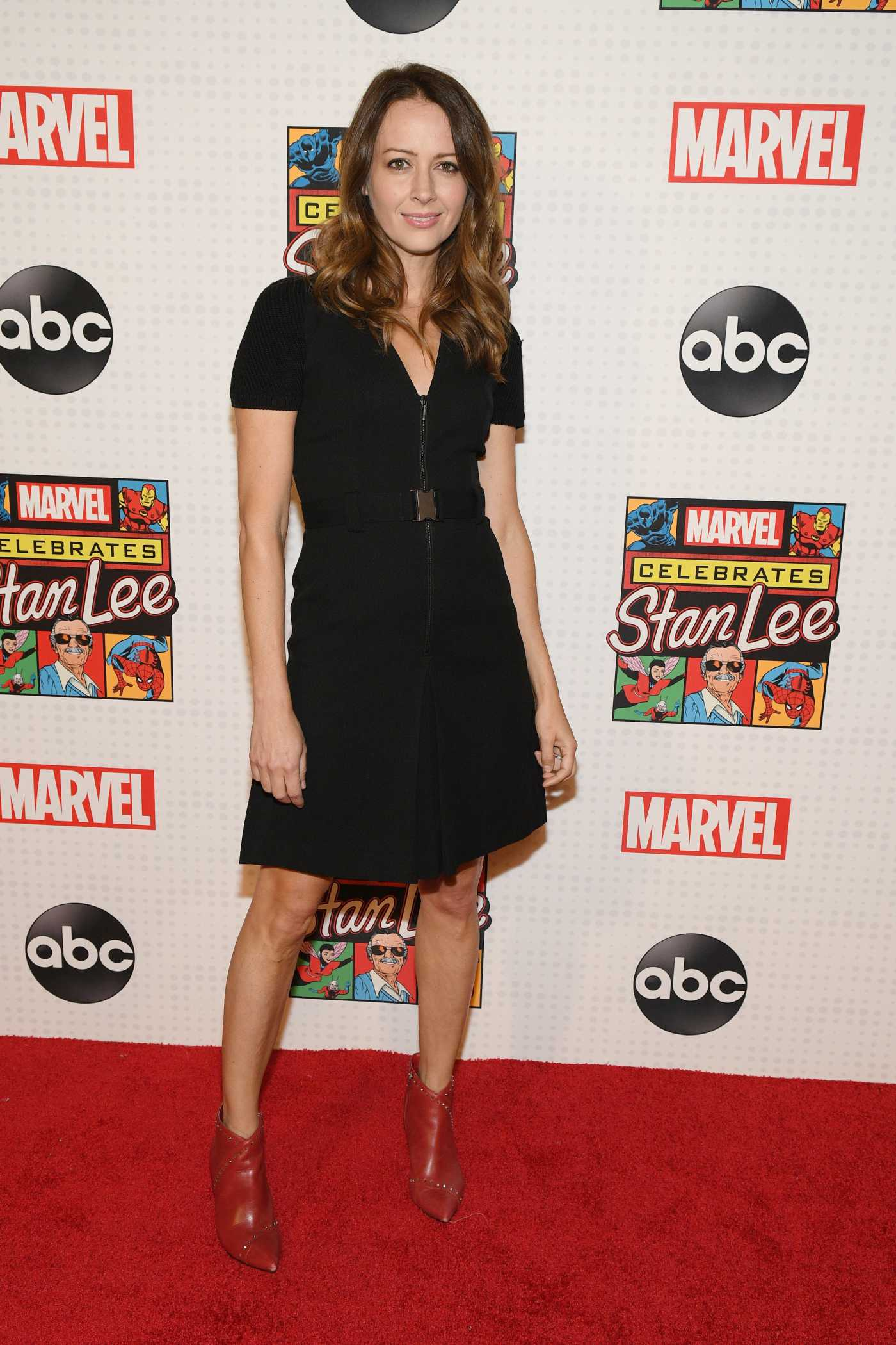 Amy Acker Attends Marvel's Stan Lee Celebrating in New York 12/11/2019