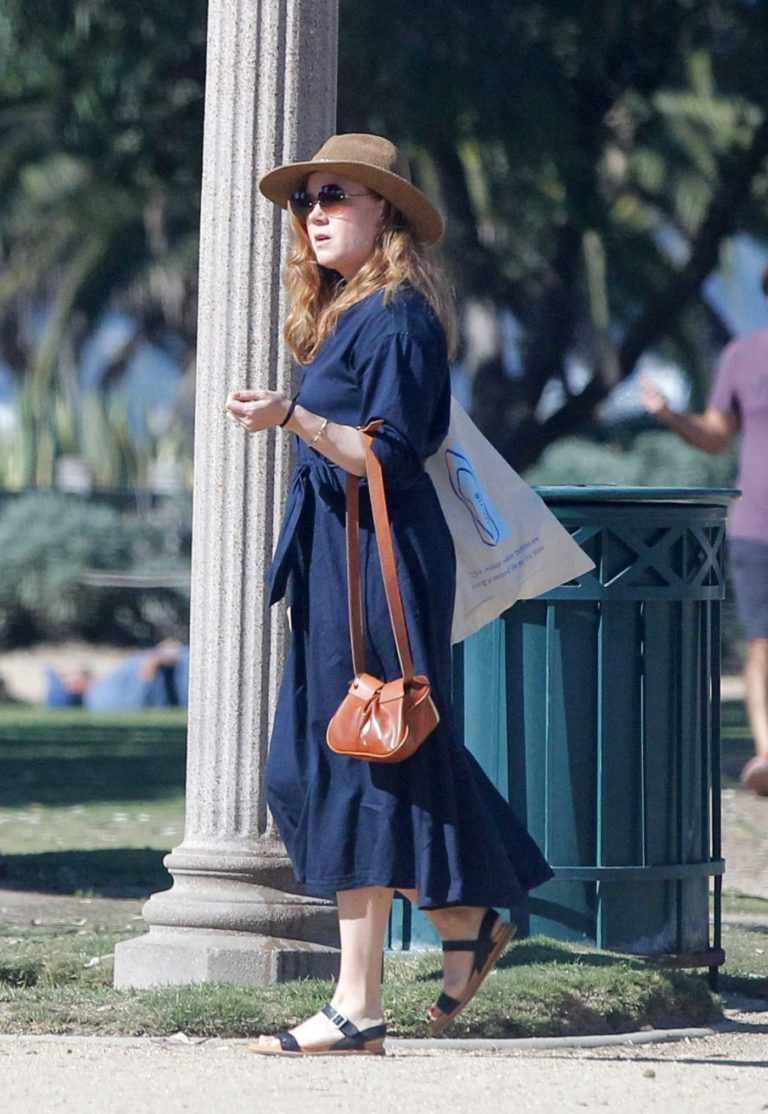 Amy Adams in a Blue Dress