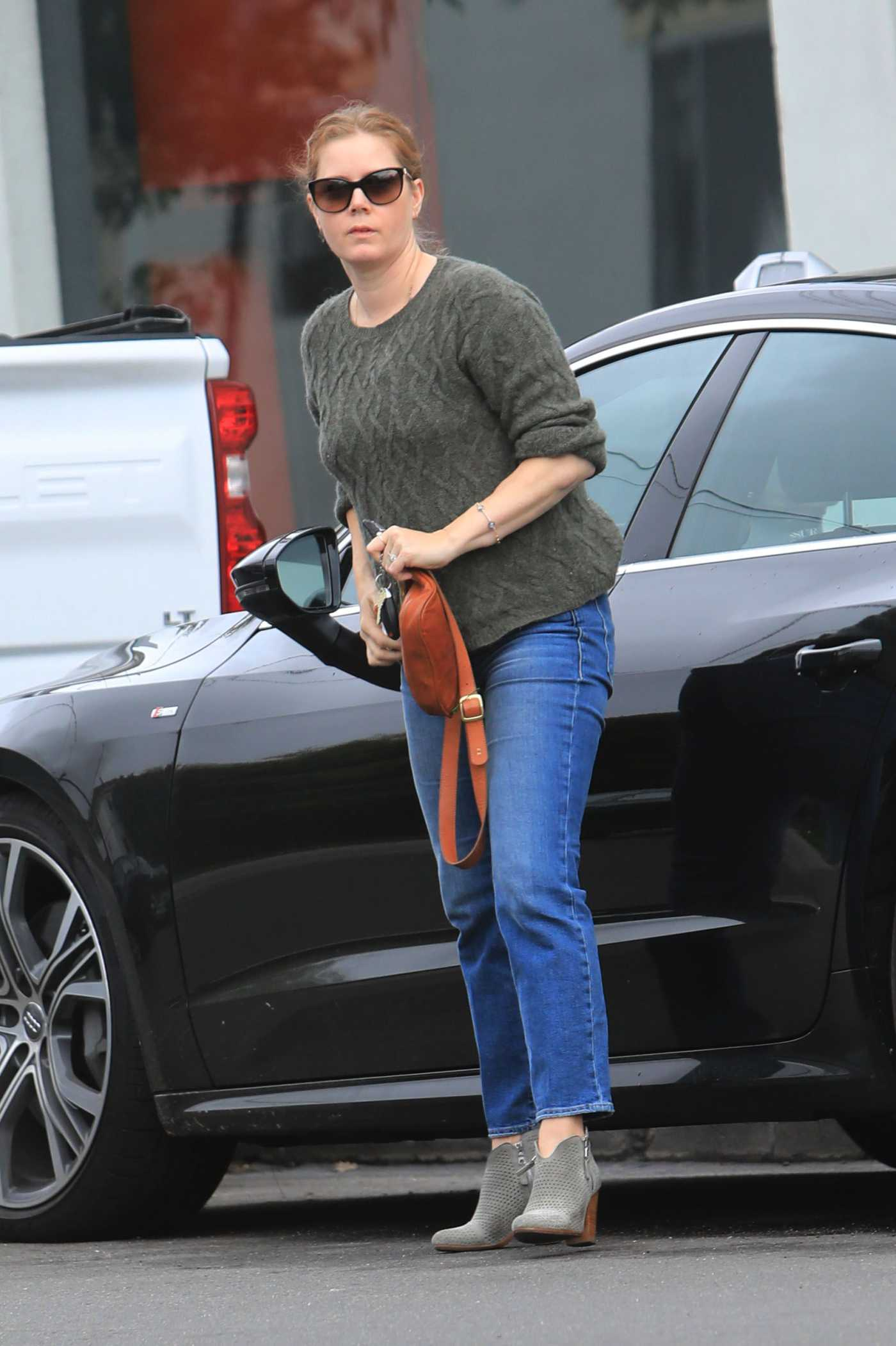Amy Adams in a Blue Jeans Was Seen Out in West Hollywood 12/08/2019