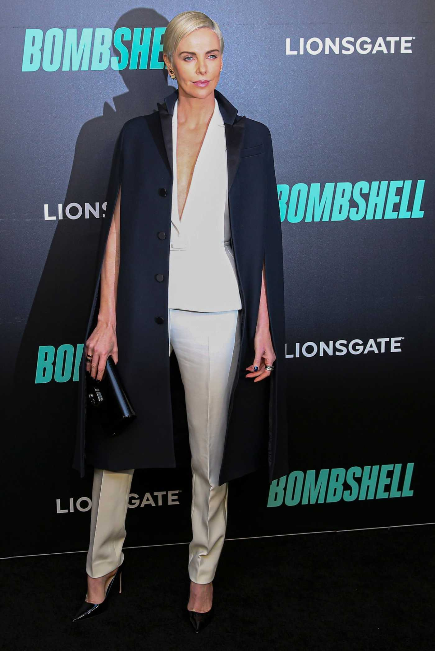 Charlize Theron Attends the Bombshell Screening in New York 12/16/2019