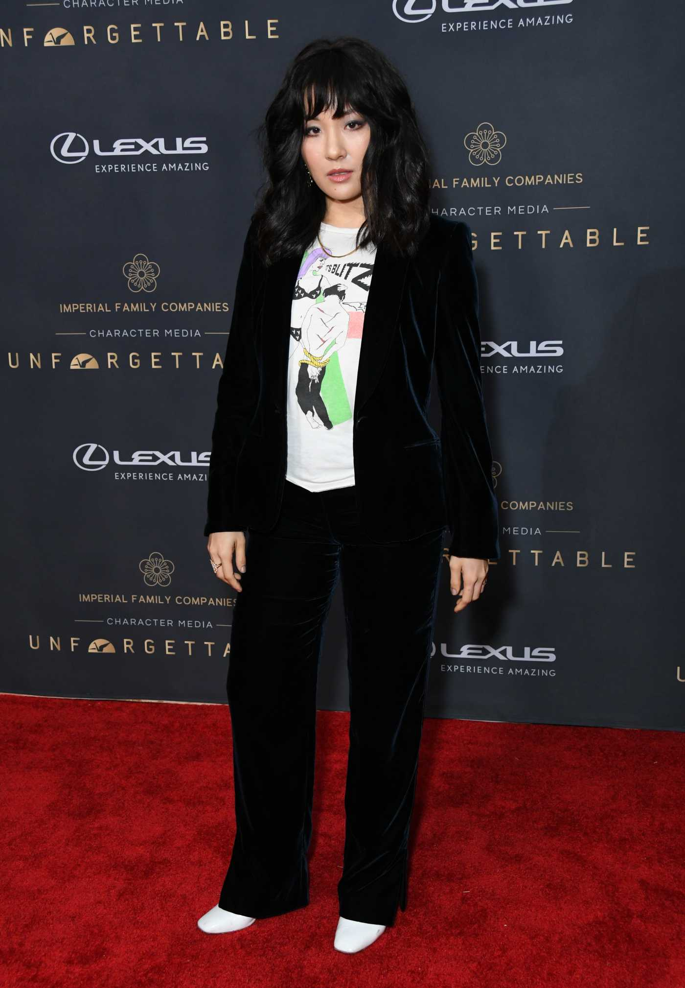 Constance Wu Attends the 18th Annual Unforgettable Gala in Beverly Hills 12/14/2019