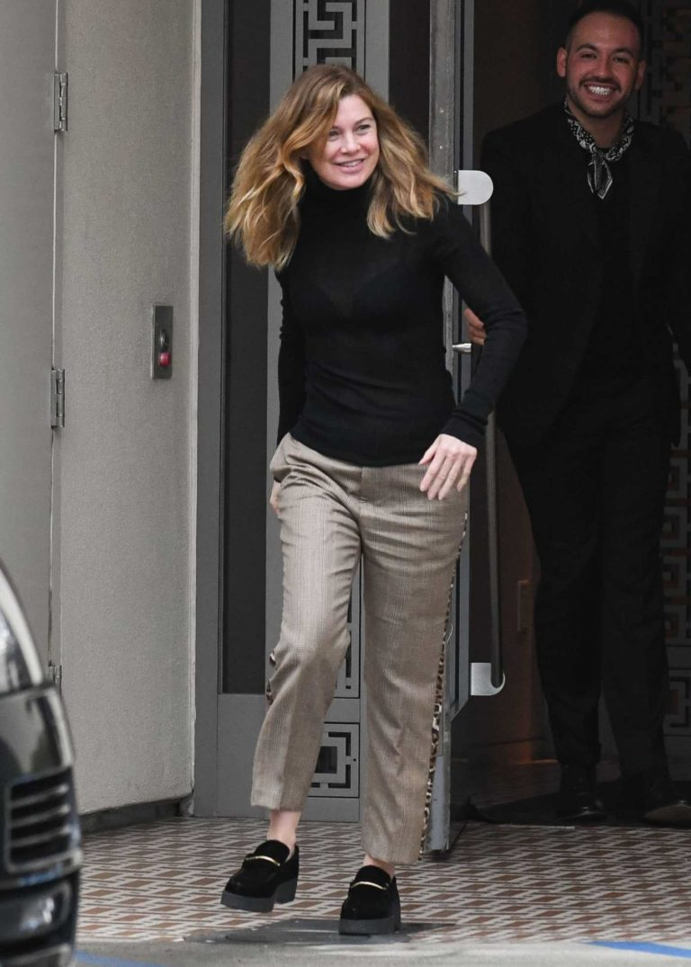 Ellen Pompeo in a Black Turtleneck