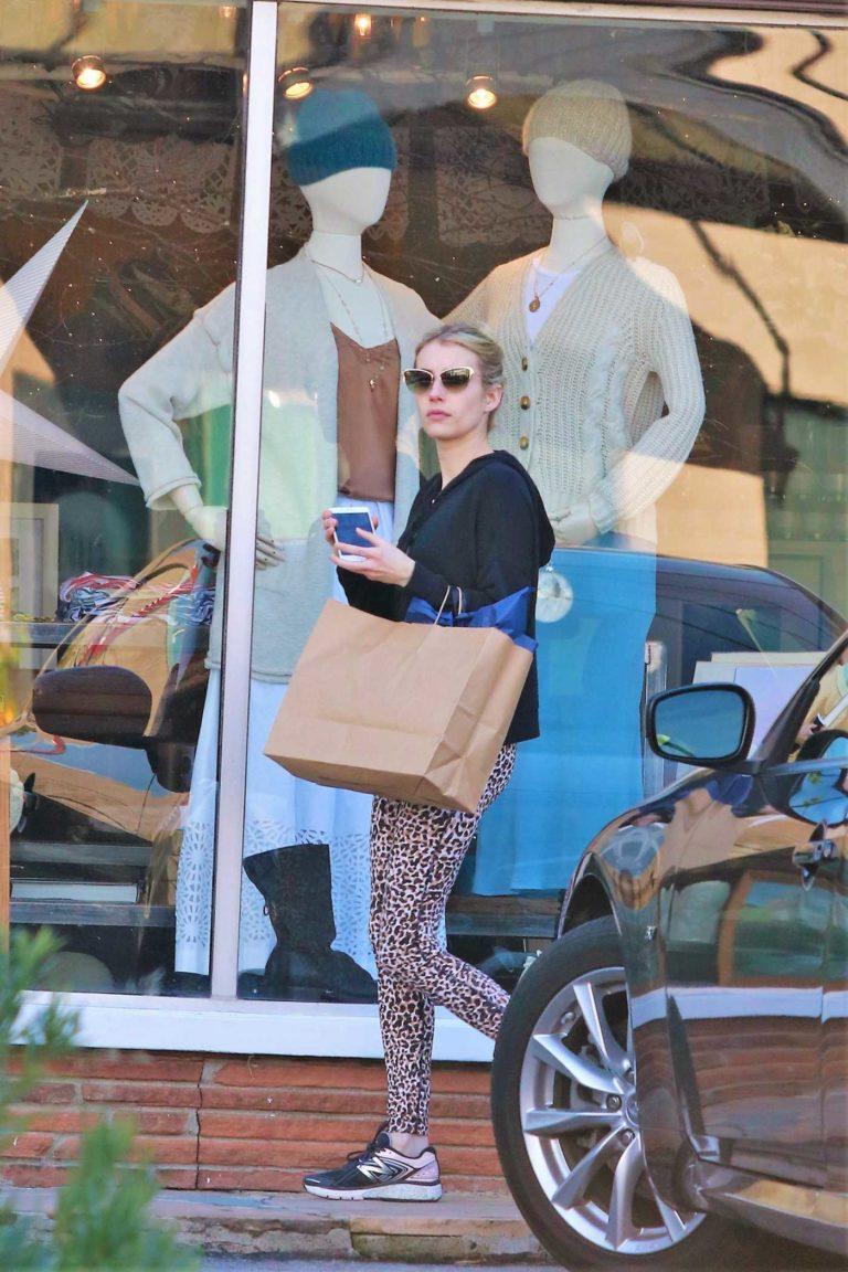 Emma Roberts in a Black Hoody