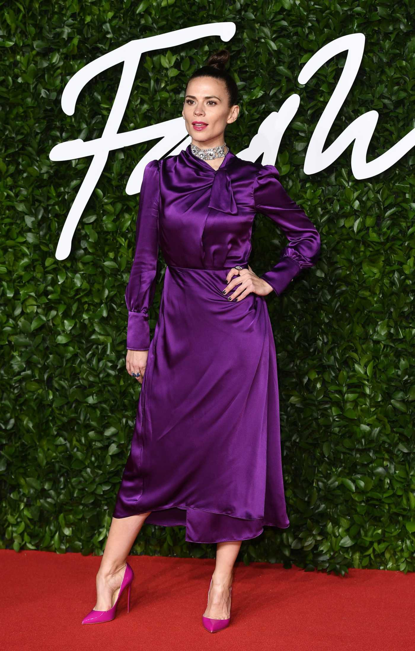 Hayley Atwell Attends 2019 Fashion Awards at Royal Albert Hall in London 12/02/2019