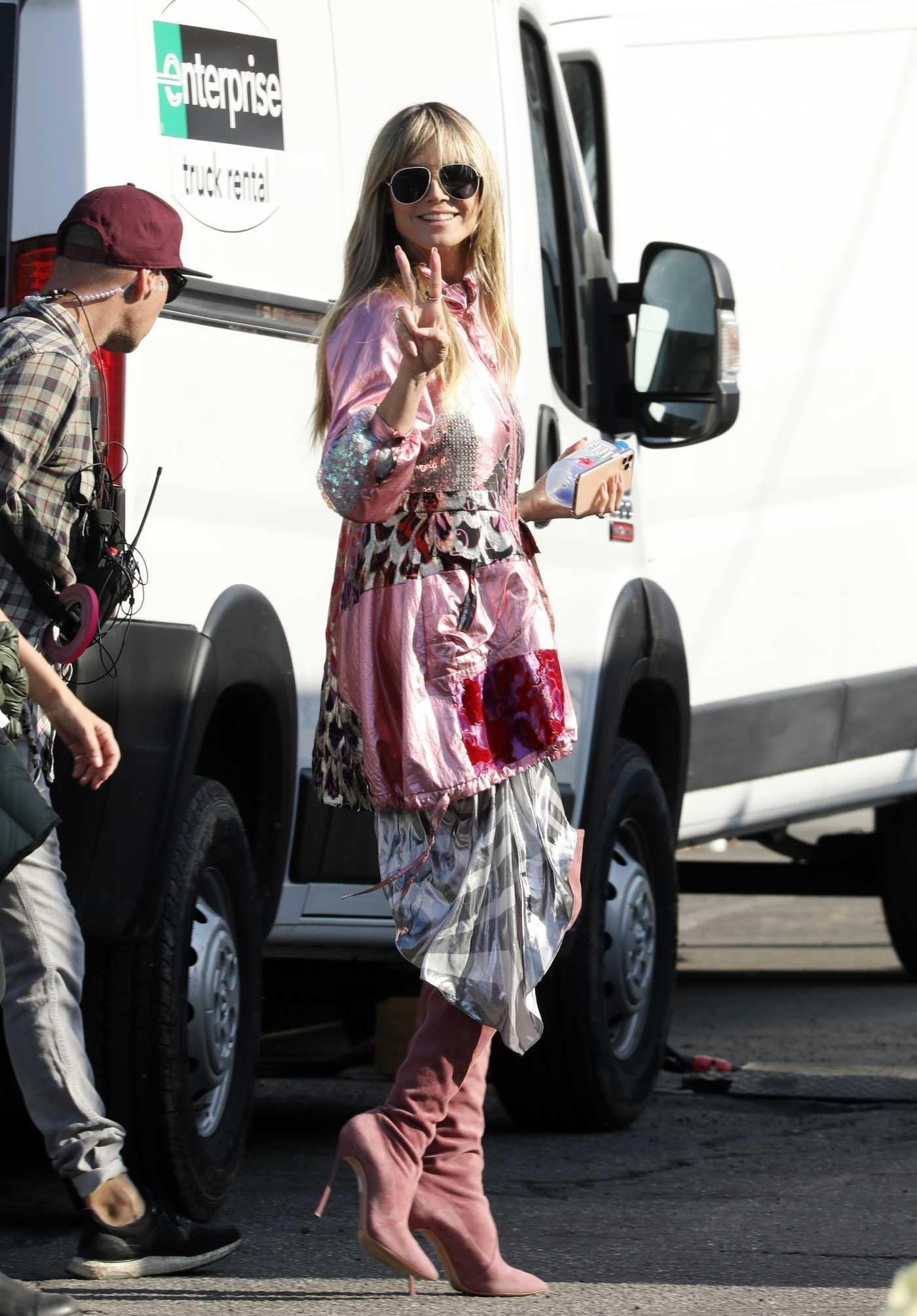 Heidi Klum on the Set of Germany's Next Top Model in Los Angeles 12/13/2019