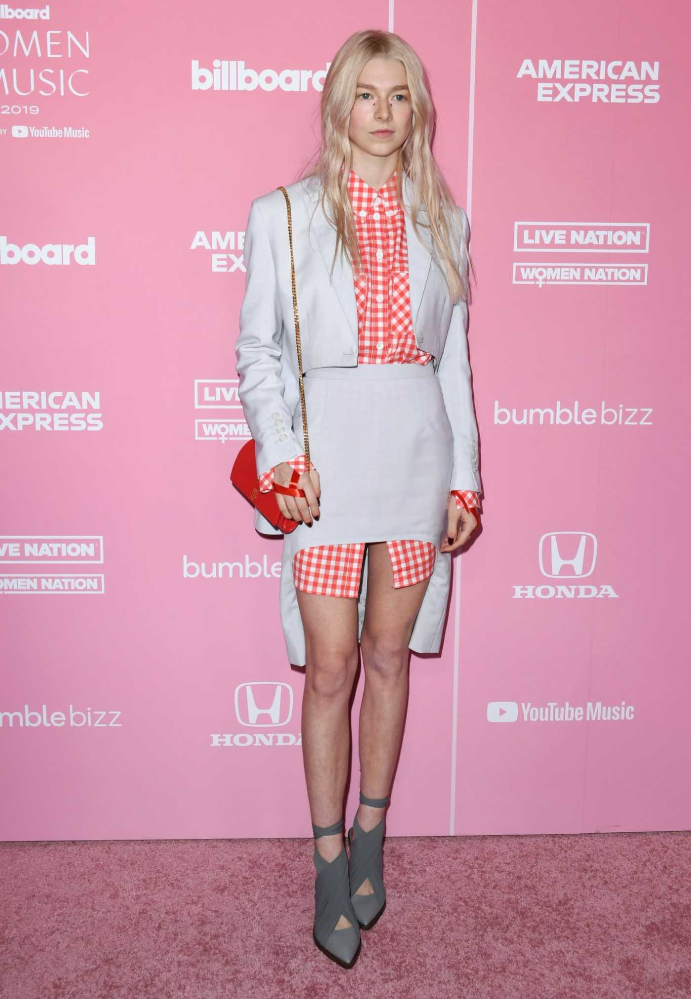 Hunter Schafer Attends 2019 Billboard Women in Music at Hollywood Palladium in Hollywood 12/12/2019