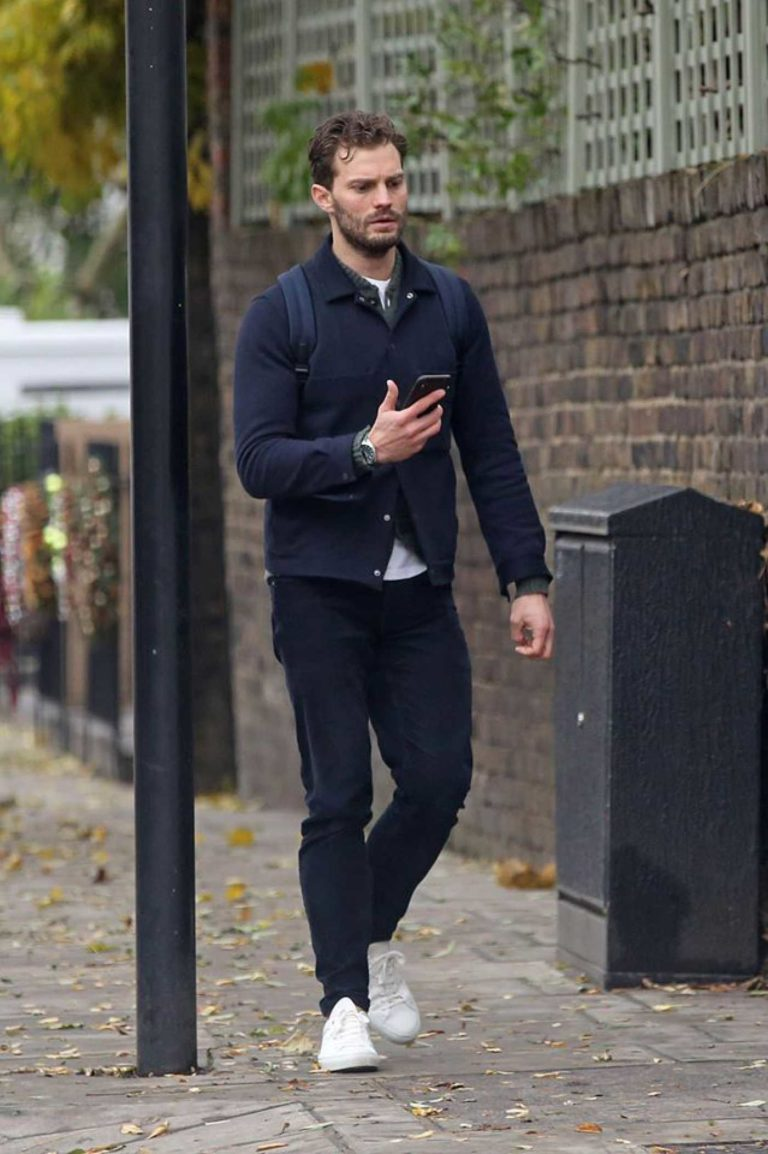 Jamie Dornan in a White Sneakers