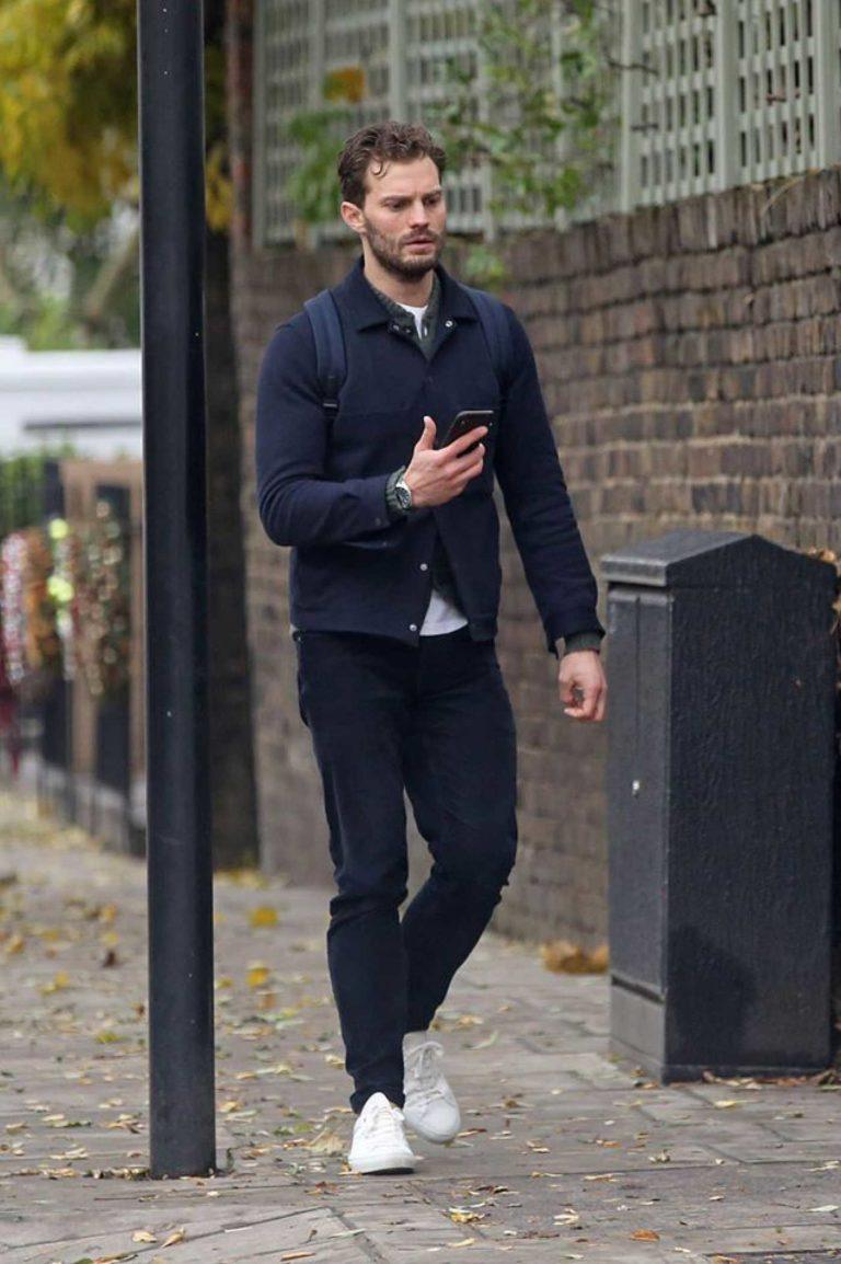 Jamie Dornan in a White Sneakers