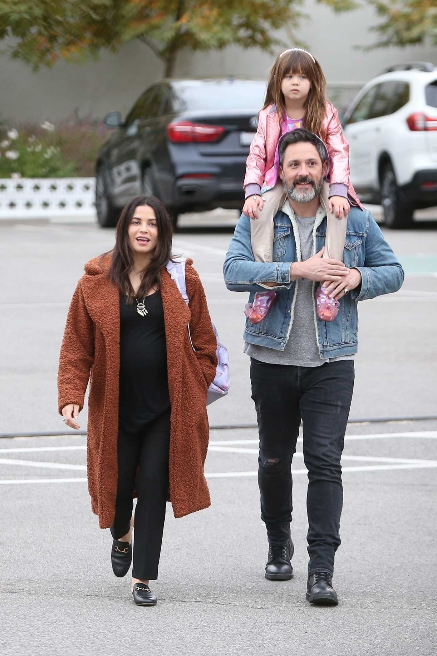Jenna Dewan in a Brown Fur Coat Was Seen Out with Her Boyfriend and Daughter in Los Angeles 12/03/2019