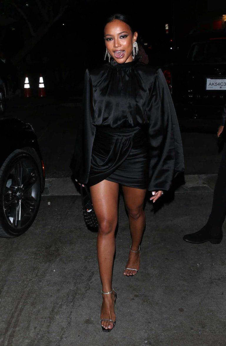 Karrueche Tran in a Black Dress