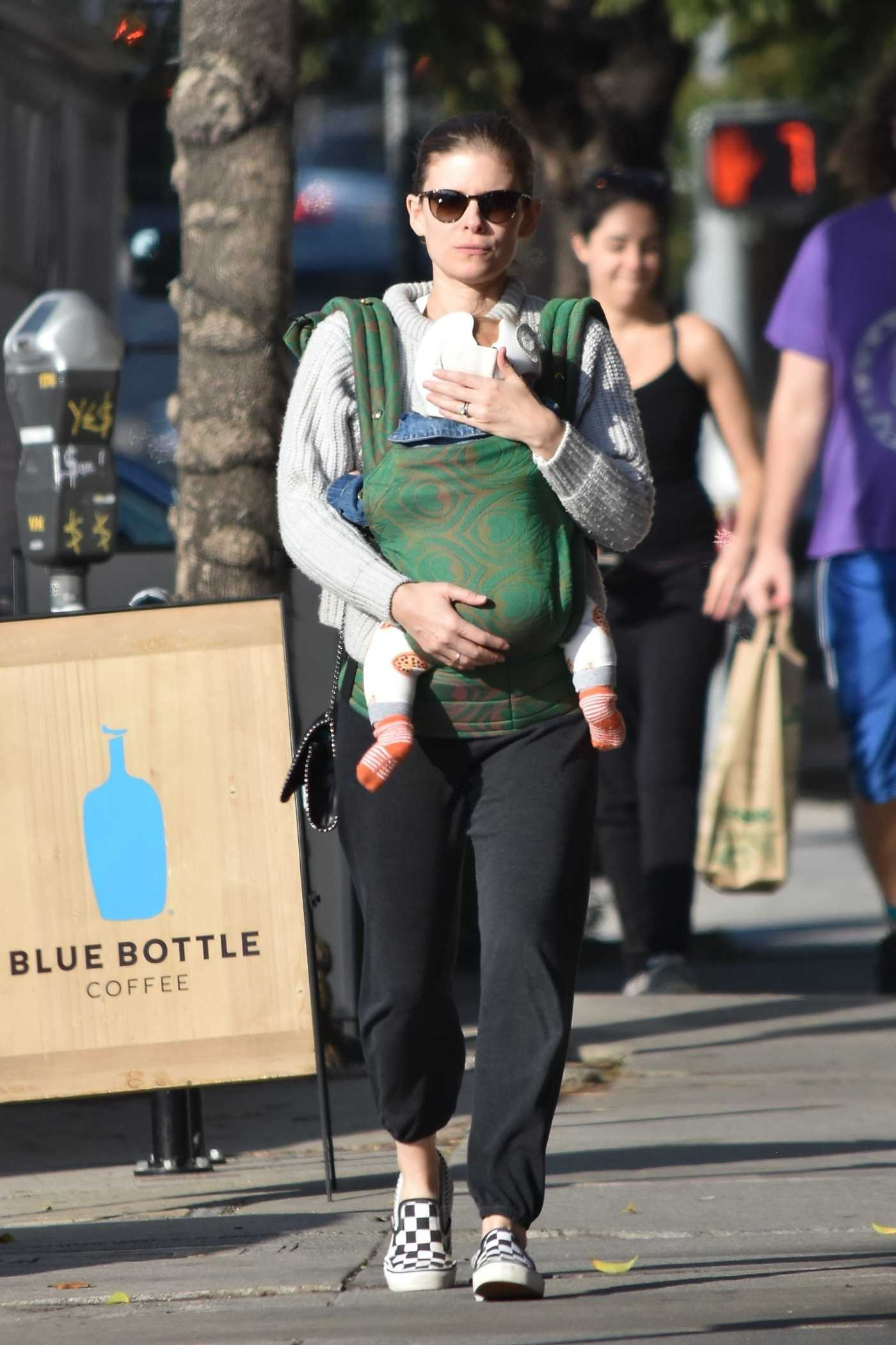 Kate Mara in a Black Sweatpants Was Seen Out with Her Daughter in Los Feliz 12/13/2019