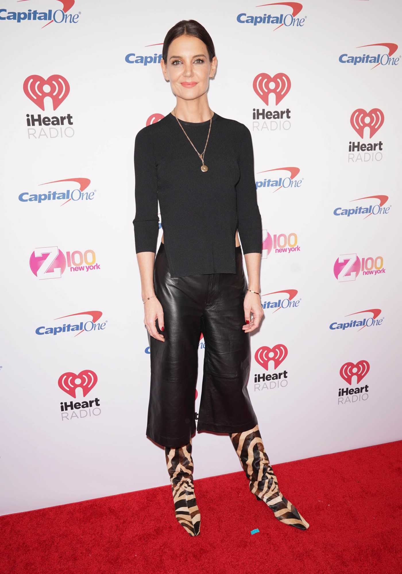 Katie Holmes Attends 2019 iHeartRadio's Z100 Jingle Ball at Madison Square Garden in New York City 12/13/2019