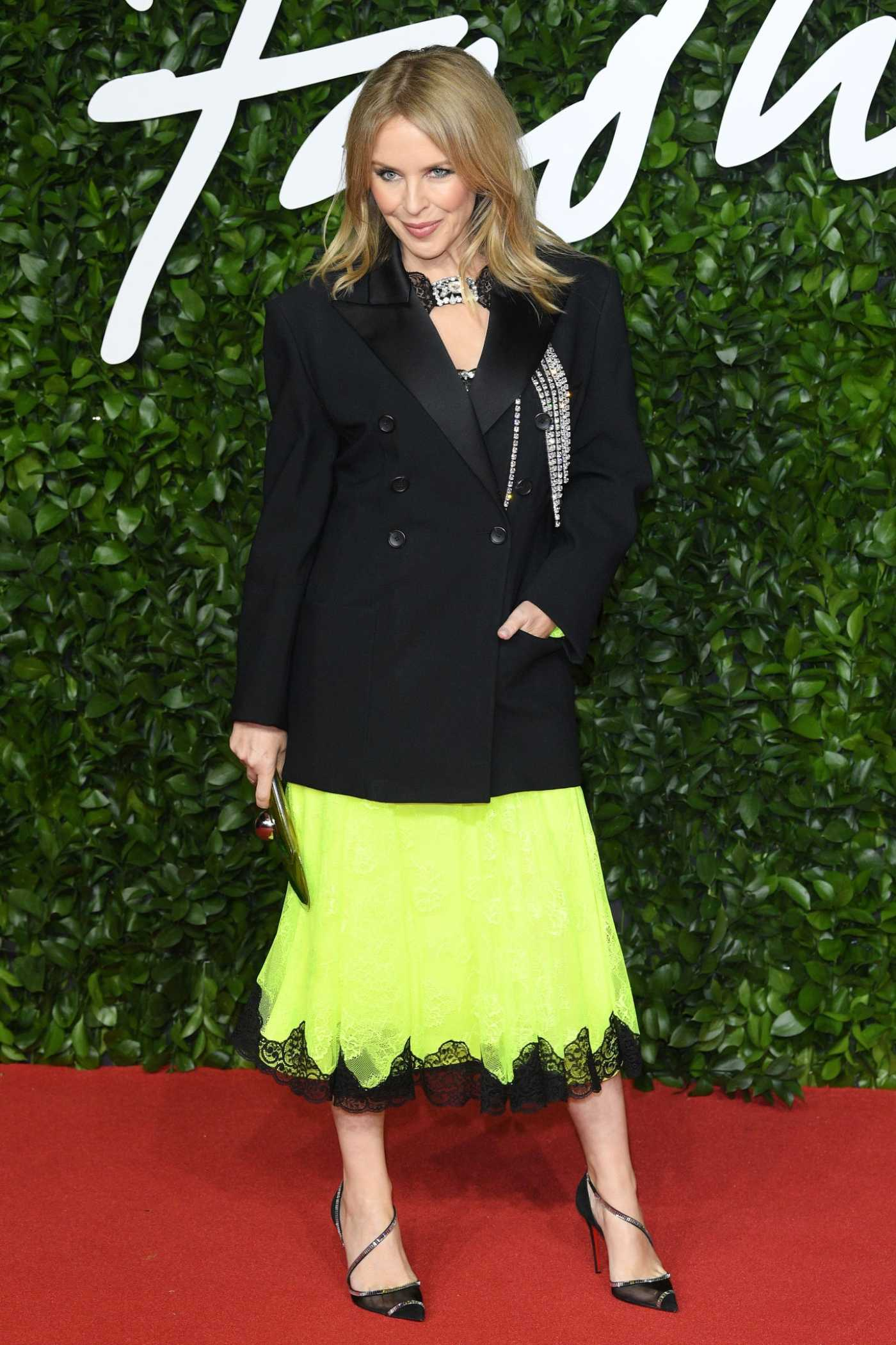 Kylie Minogue Attends 2019 Fashion Awards at Royal Albert Hall in London 12/02/2019
