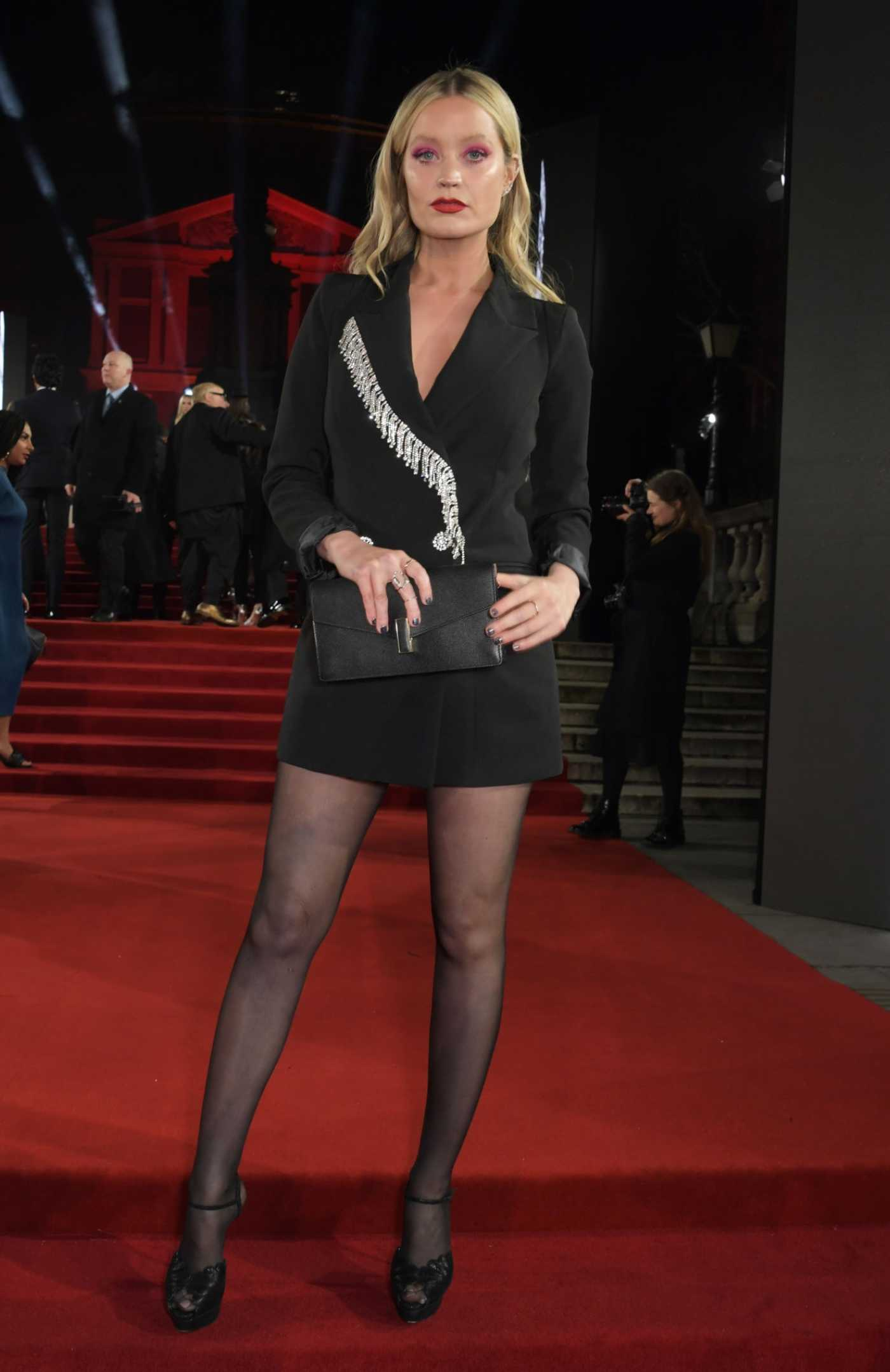 Laura Whitmore Attends 2019 Fashion Awards at Royal Albert Hall in London 12/02/2019