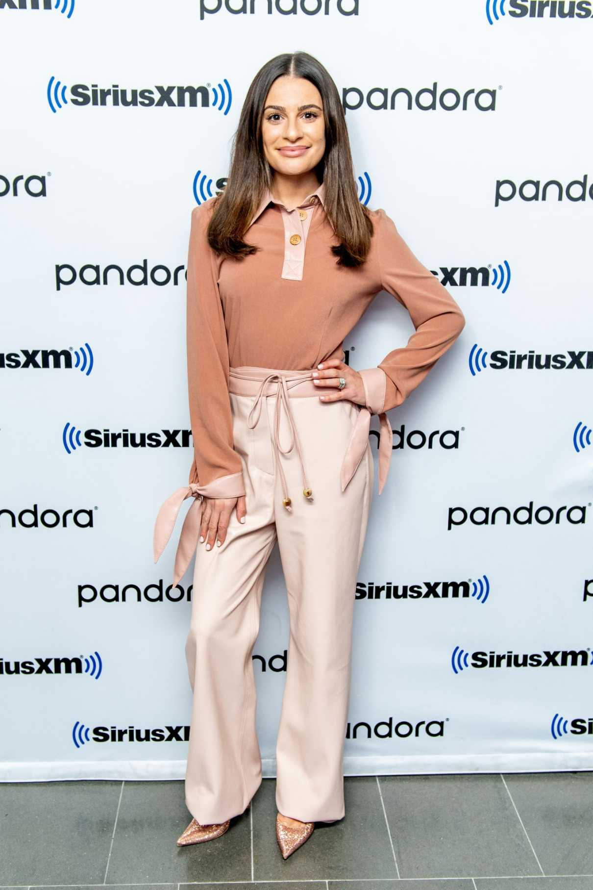 Lea Michele Attends SiriusXM Studios in New York City 12/05/2019