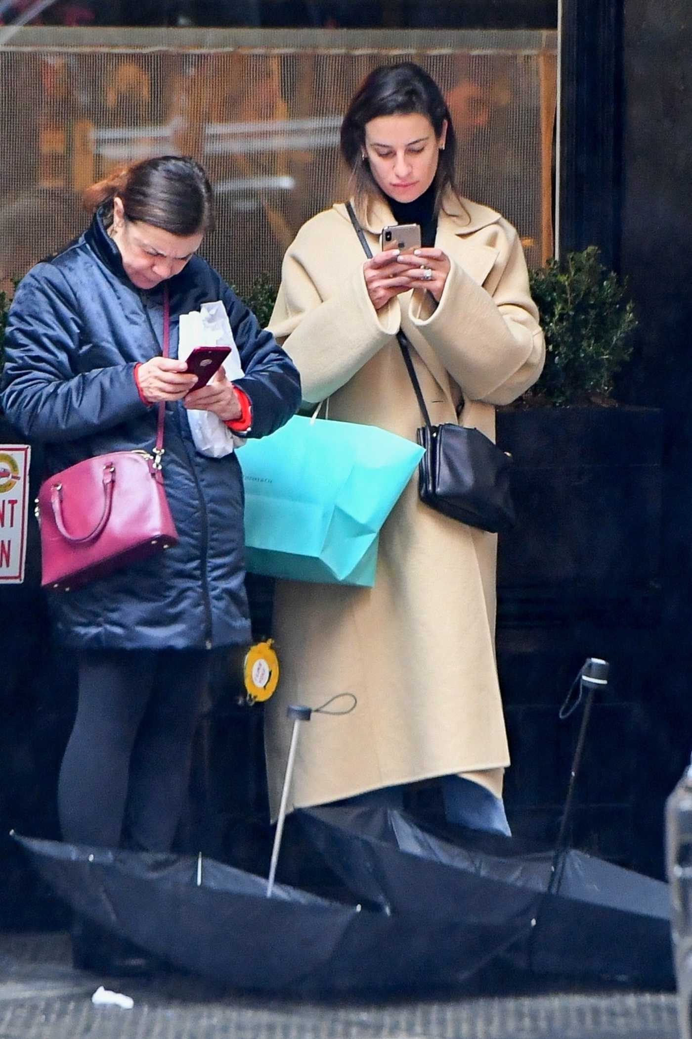 Lea Michele in a Beige Coat Was Seen Out in New York 12/09/2019
