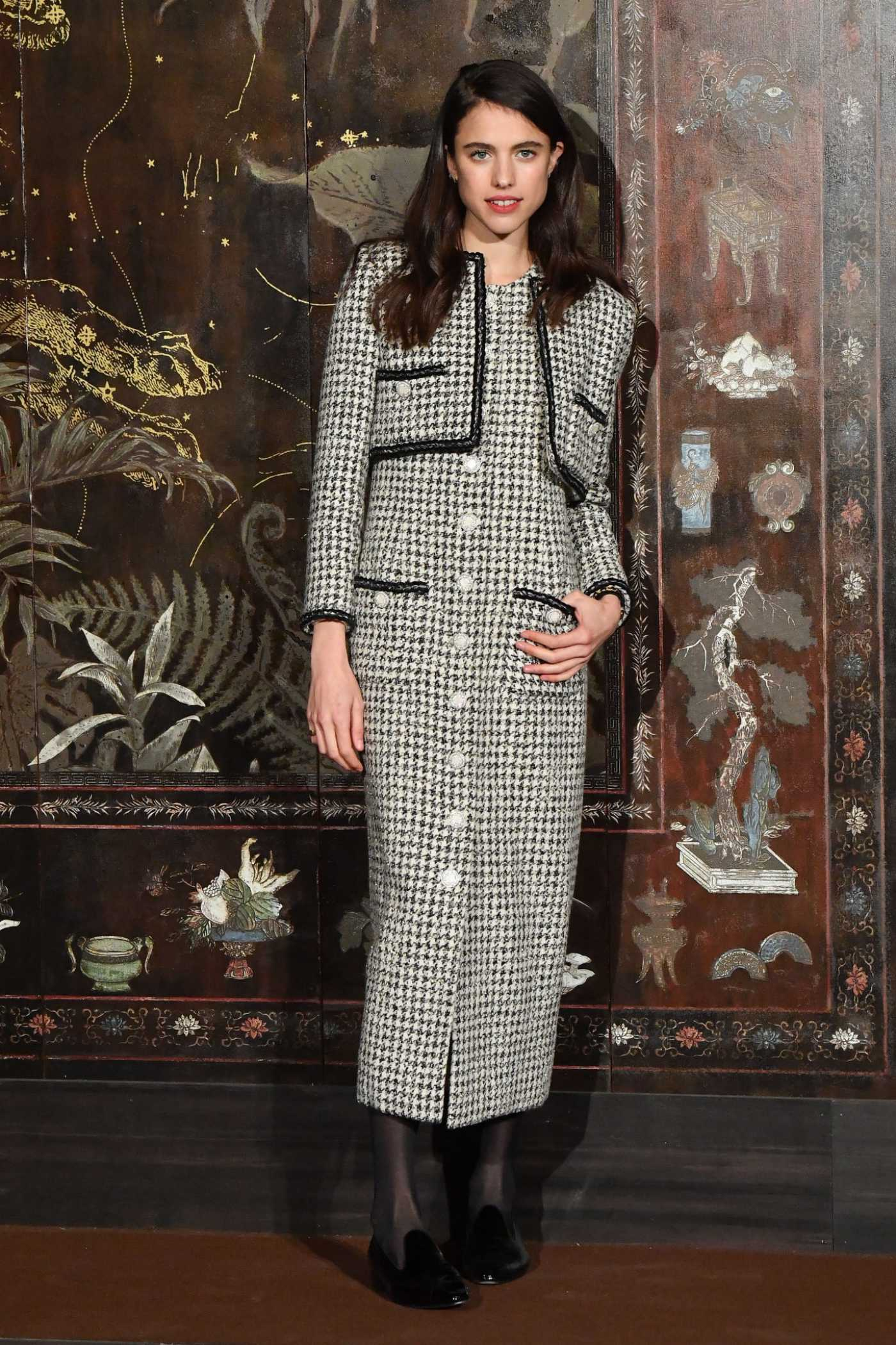 Margaret Qualley Attends 2019 Chanel Metiers D'Art Fashion Show at Le Grand Palais in Paris 12/04/2019
