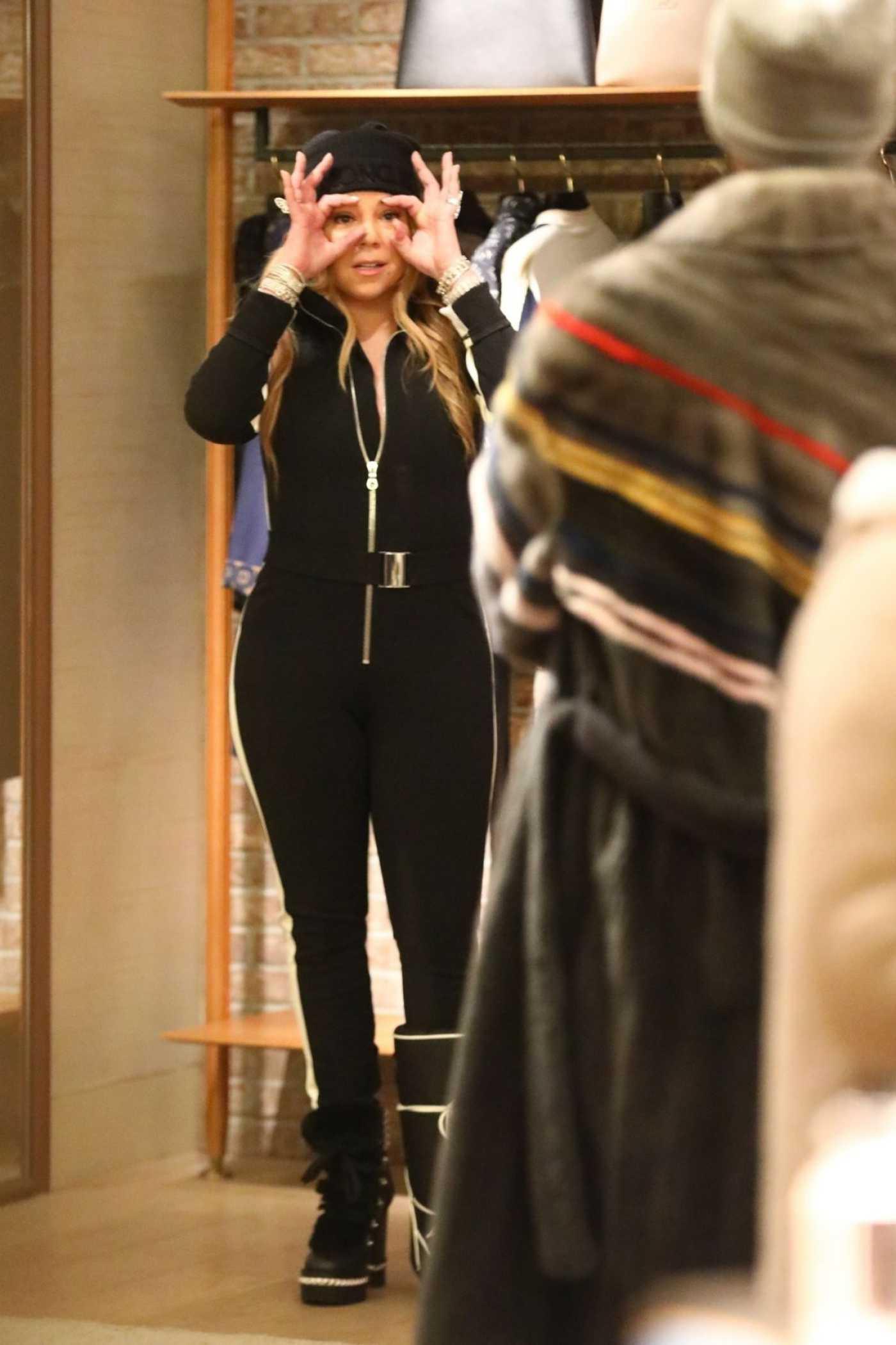 Mariah Carey Goes Shopping at Louis Vuitton in Aspen 12/28/2019