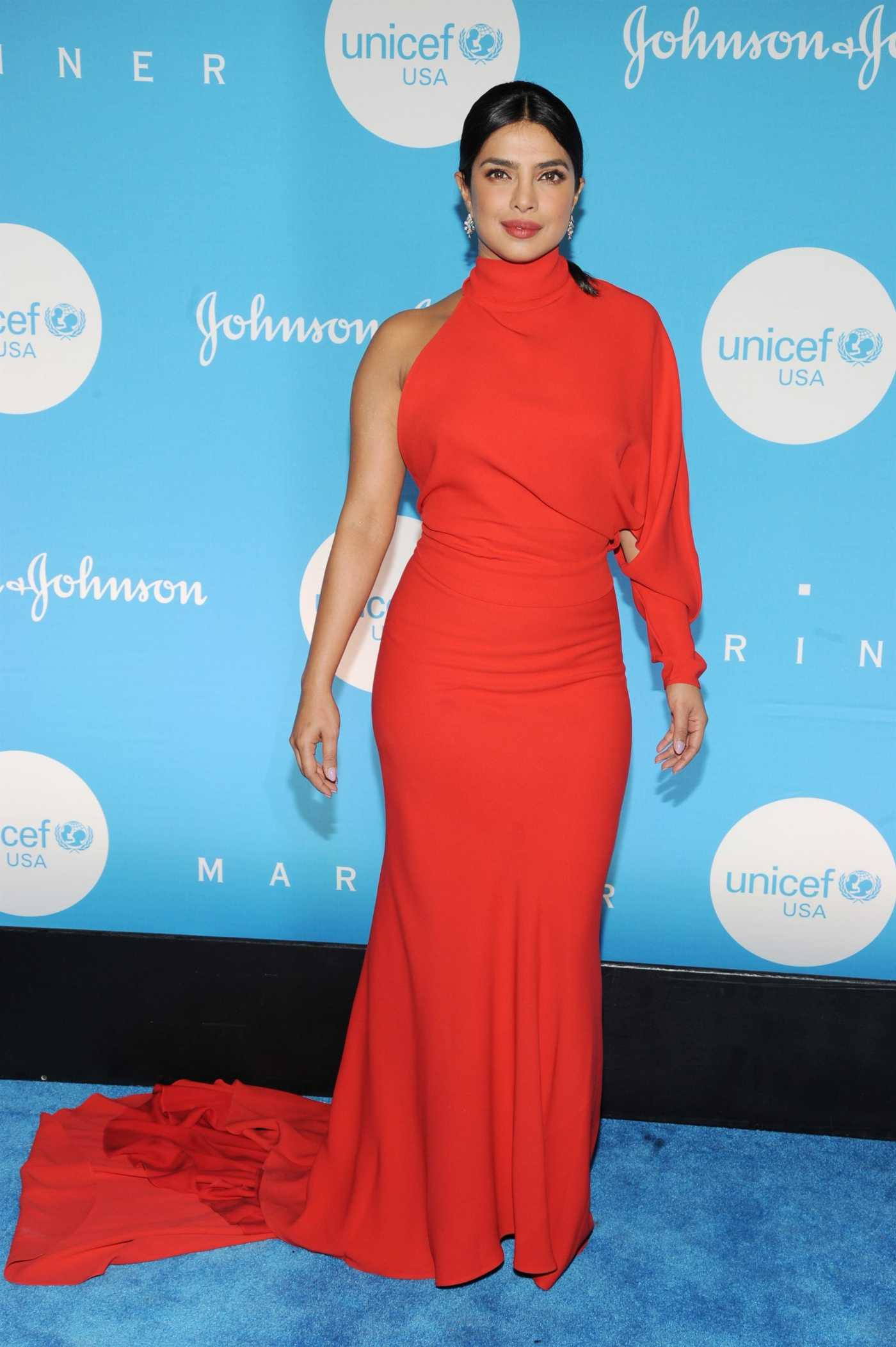 Priyanka Chopra Attends the 15th Annual UNICEF Snowflake Ball in New York City 12/03/2019