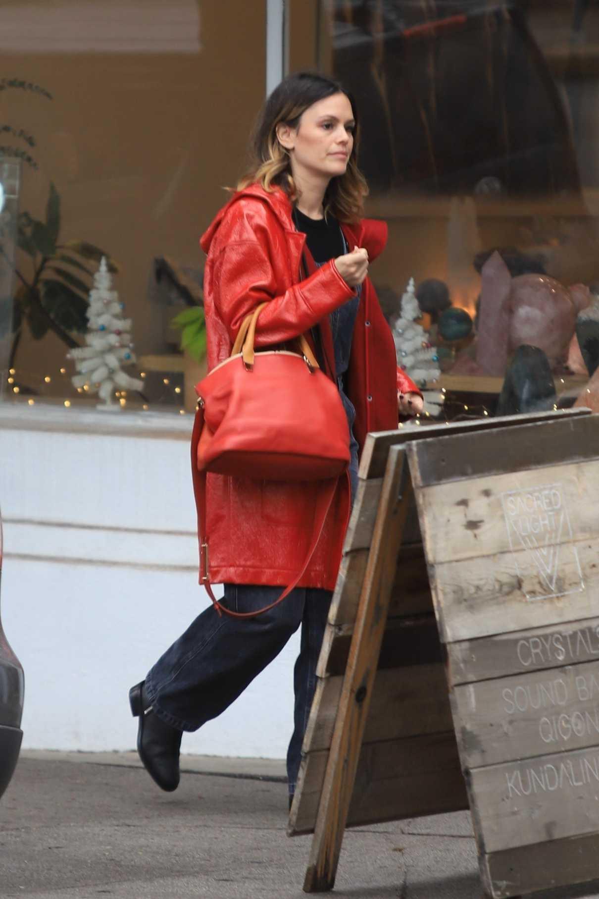 Rachel Bilson in a Red Coat Was Seen Out in Los Feliz 12/07/2019