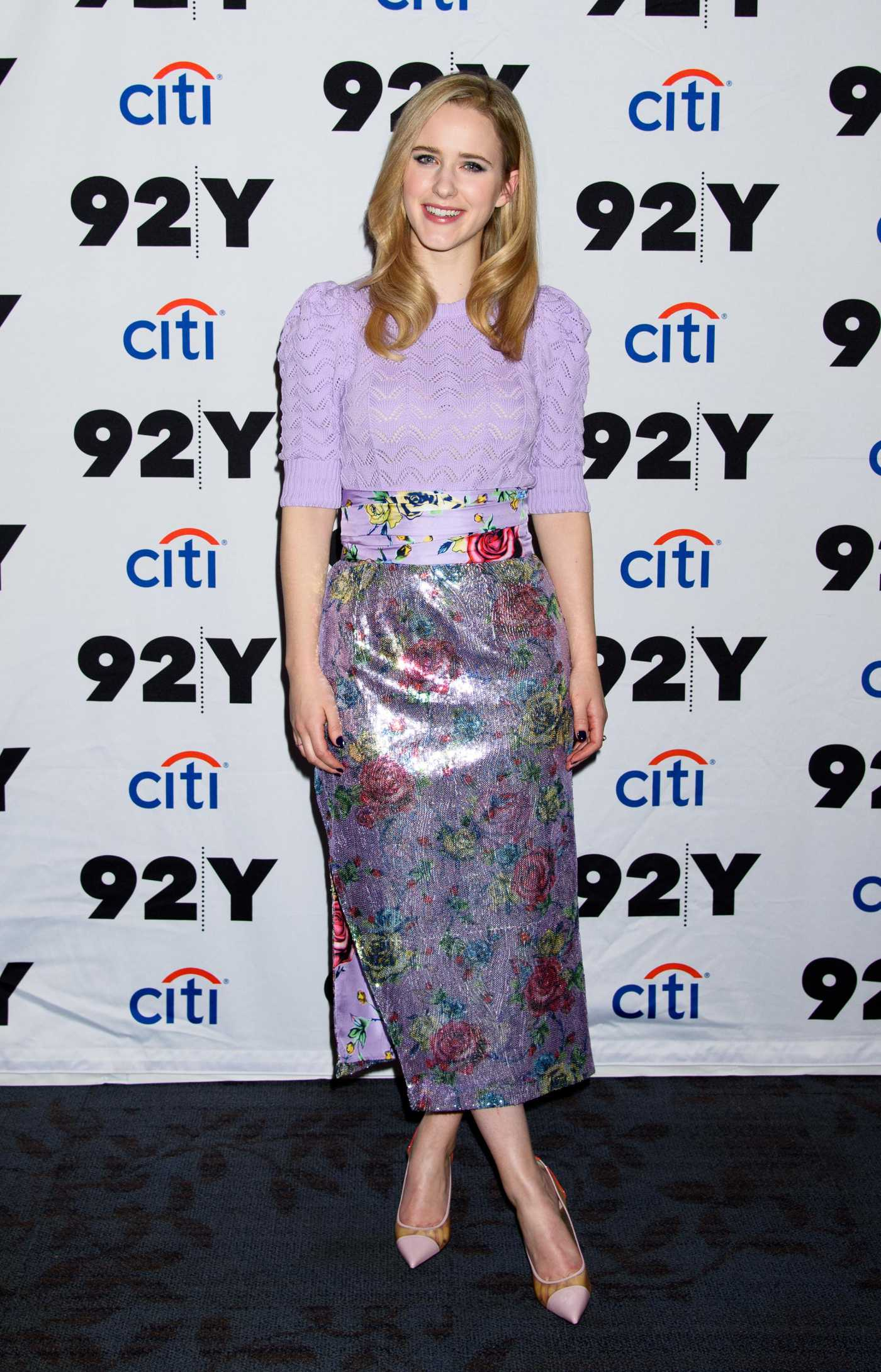 Rachel Brosnahan Attends the 92Y Speaker Series in New York 12/17/2019