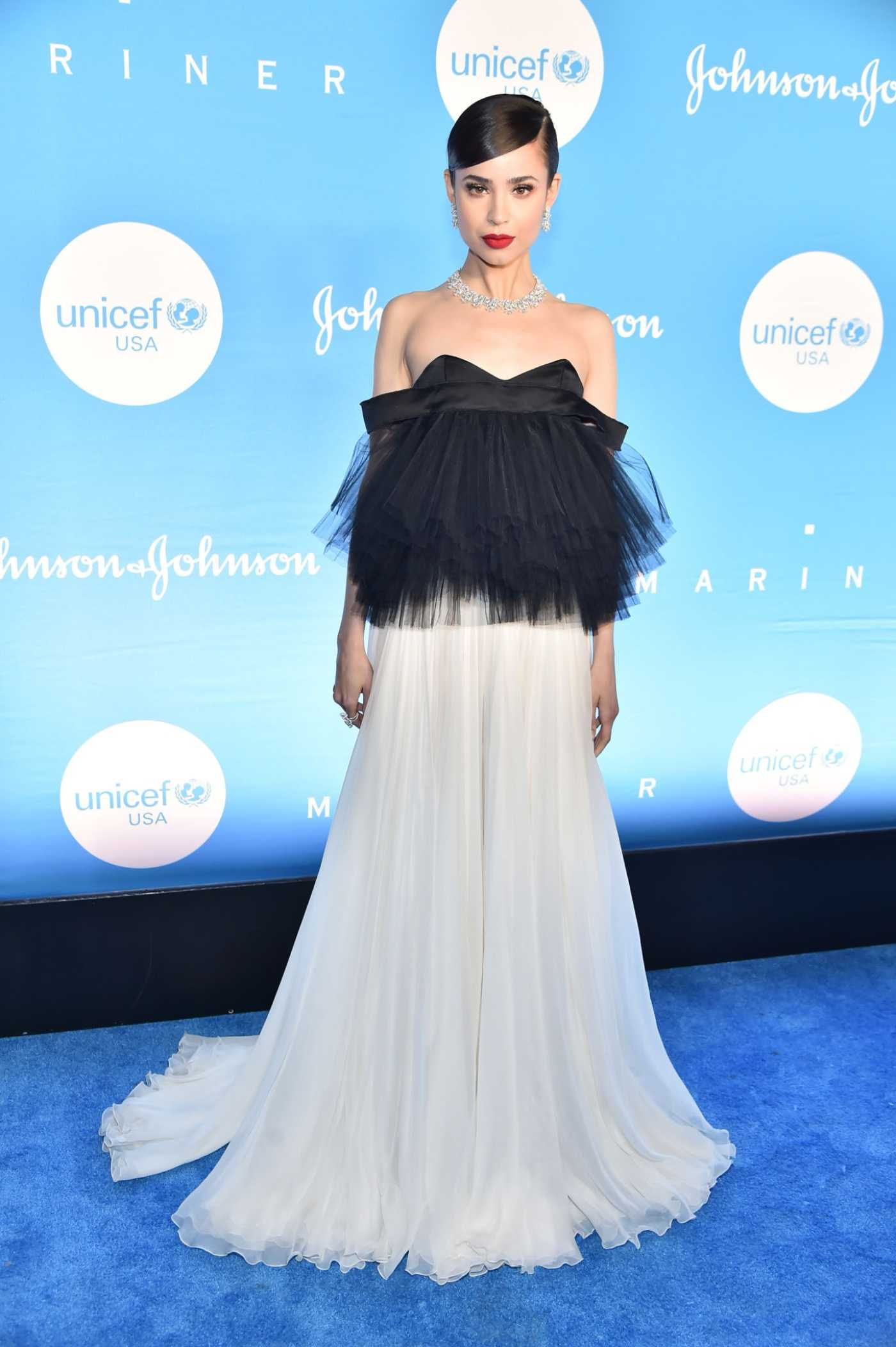 Sofia Carson Attends the 15th Annual UNICEF Snowflake Ball in New York City 12/03/2019