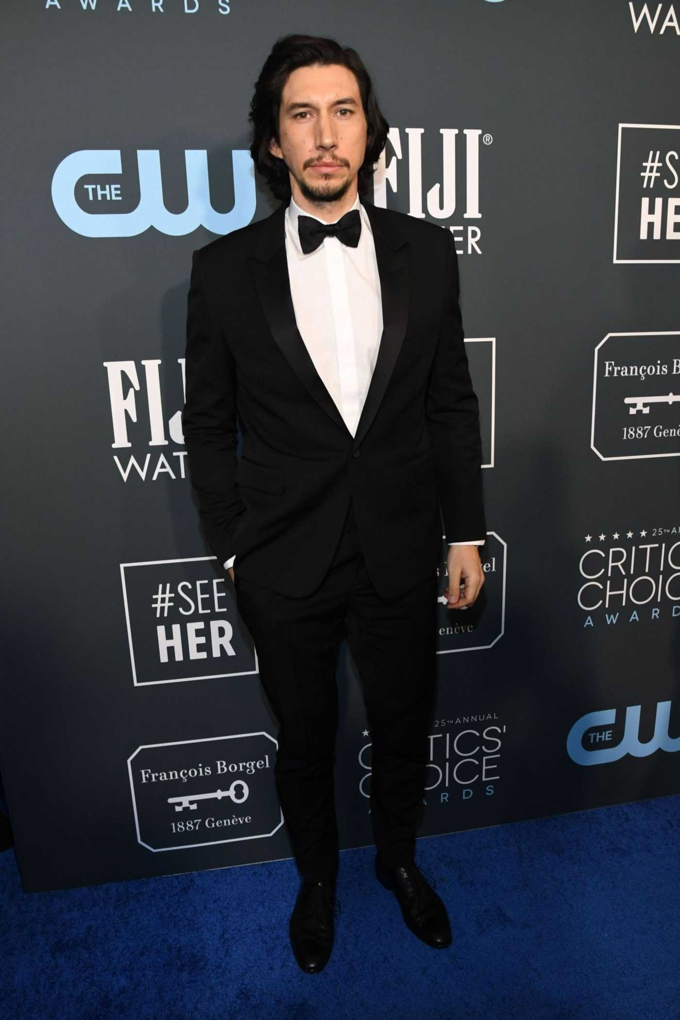 Adam Driver Attends the 25th Annual Critics Choice Awards in Santa Monica 01/12/2020
