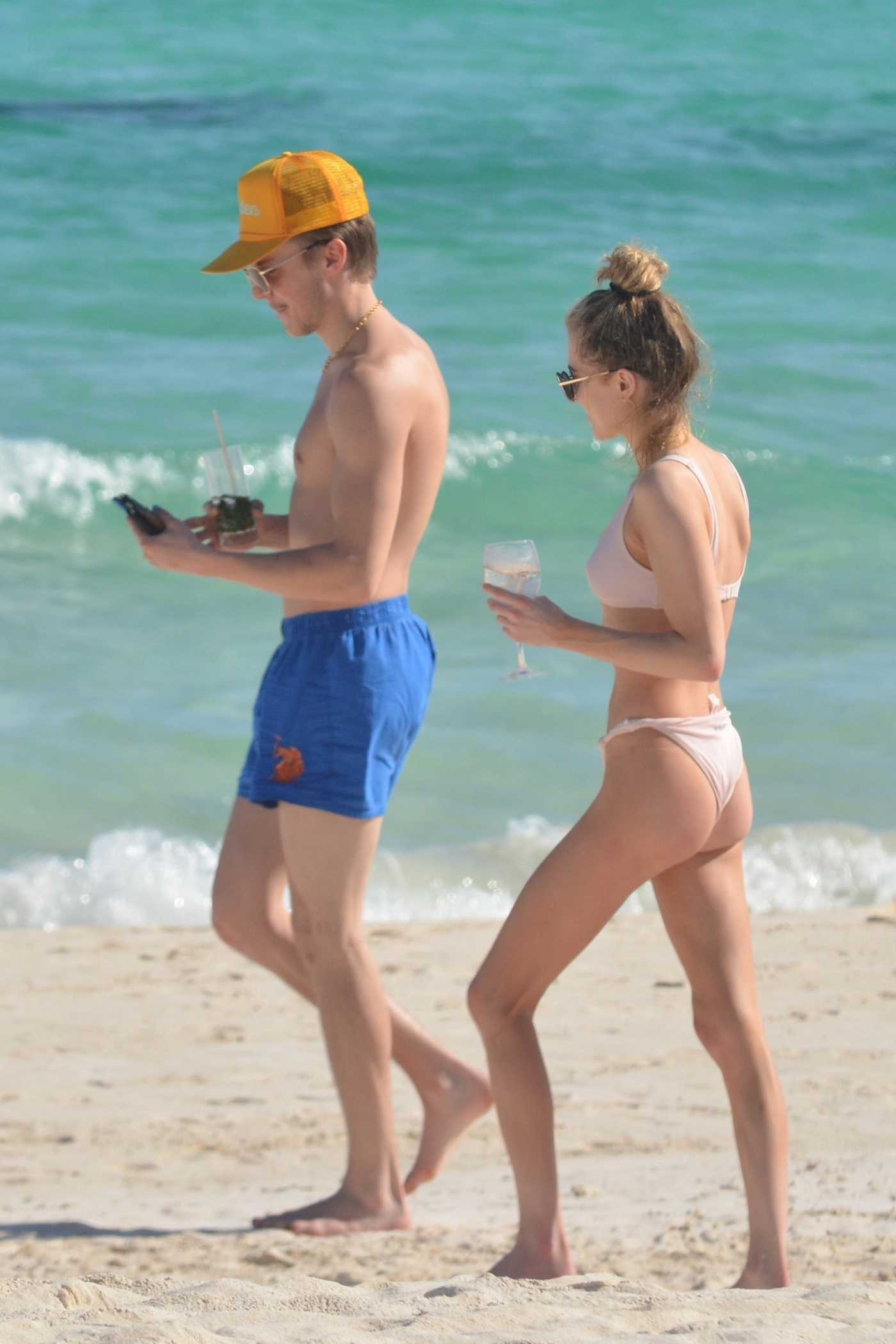 Anne Winters in Bikini Out with Her Boyfriend Taylor Beau on the Beach in Tulum 01/28/2020