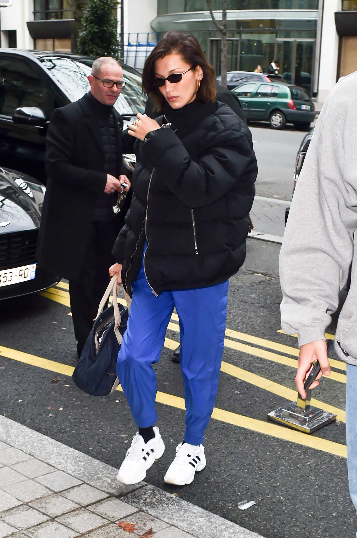 Bella Hadid in a Black Jacket Arrives for 2020 Paris Mens Fashion Week in Paris 01/14/2020