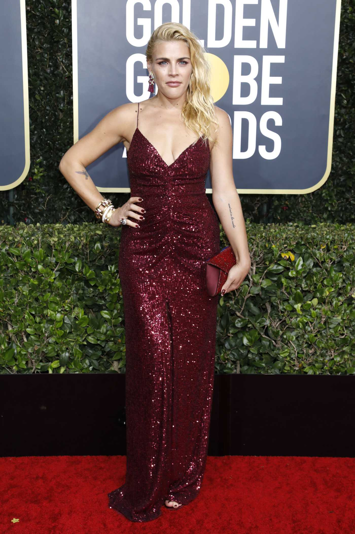Busy Philipps Attends the 77th Annual Golden Globe Awards at the Beverly Hilton Hotel in Beverly Hills 01/05/2020