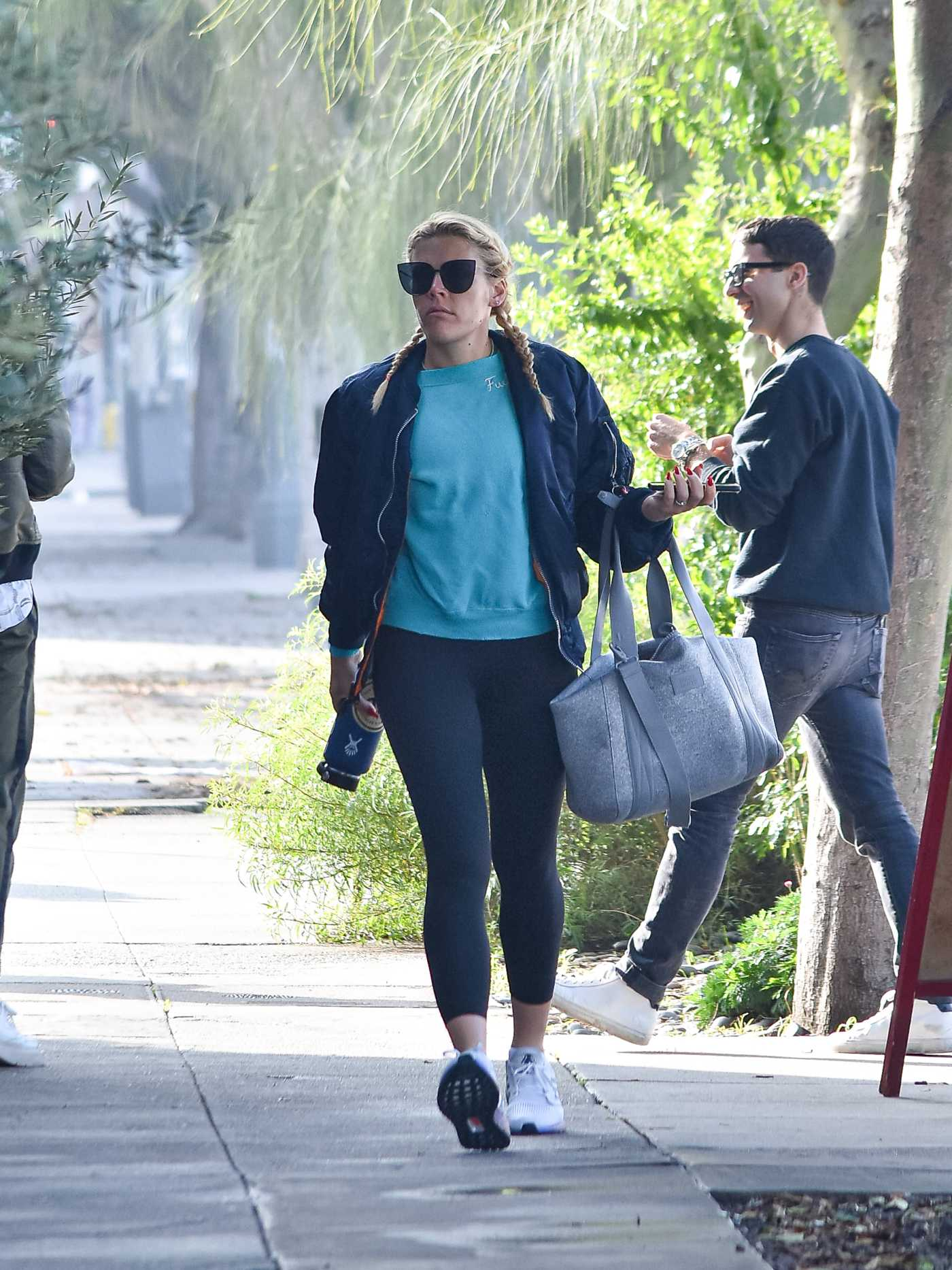 Busy Philipps in a White Adidas Sneakers Arrives to the Gym in Los Angeles 01/27/2020