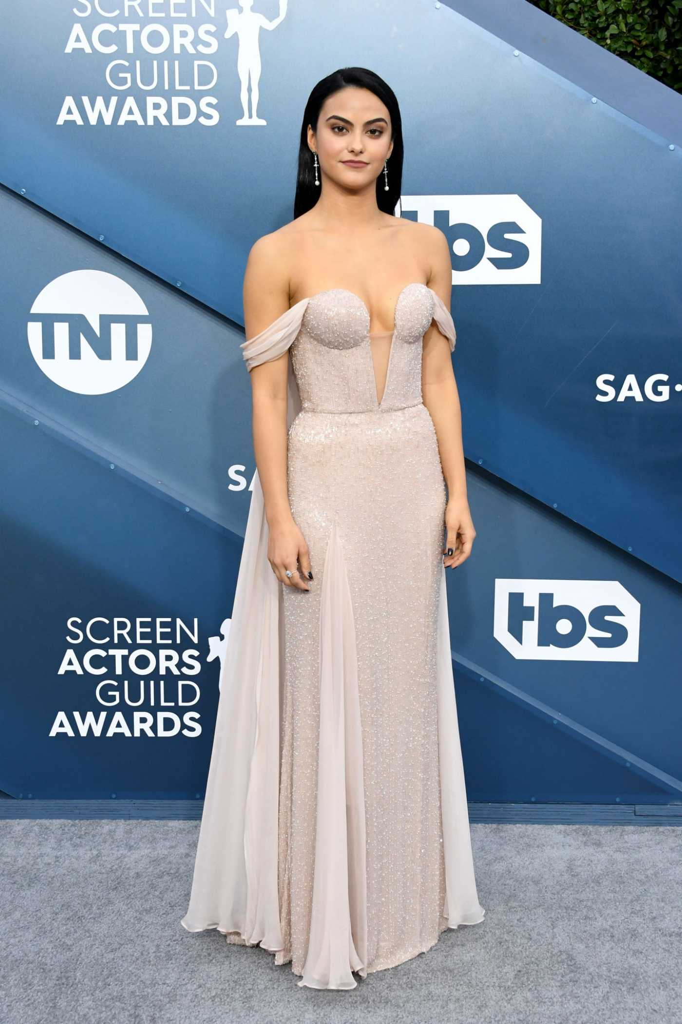 Camila Mendes Attends the 26th Annual Screen Actors Guild Awards in Los Angeles 01/19/2020