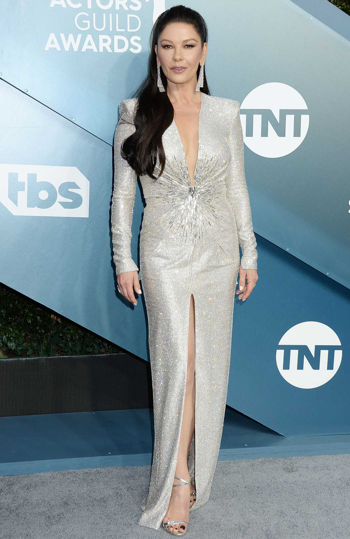 Catherine Zeta-Jones Attends the 26th Annual Screen Actors Guild Awards in Los Angeles 01/19/2020