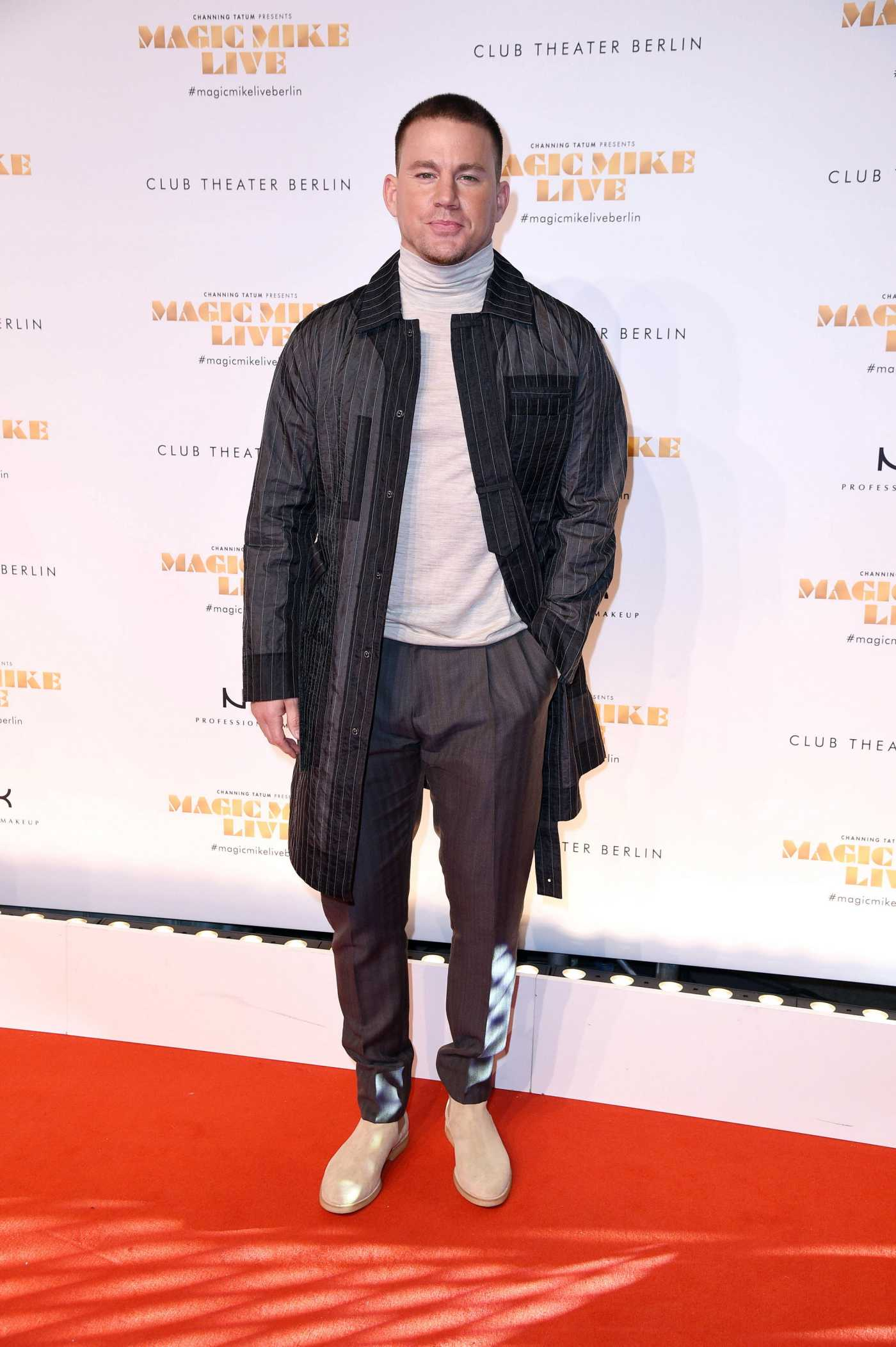 Channing Tatum Attends the Magic Mike Live Premiere in Berlin 01/16/2020