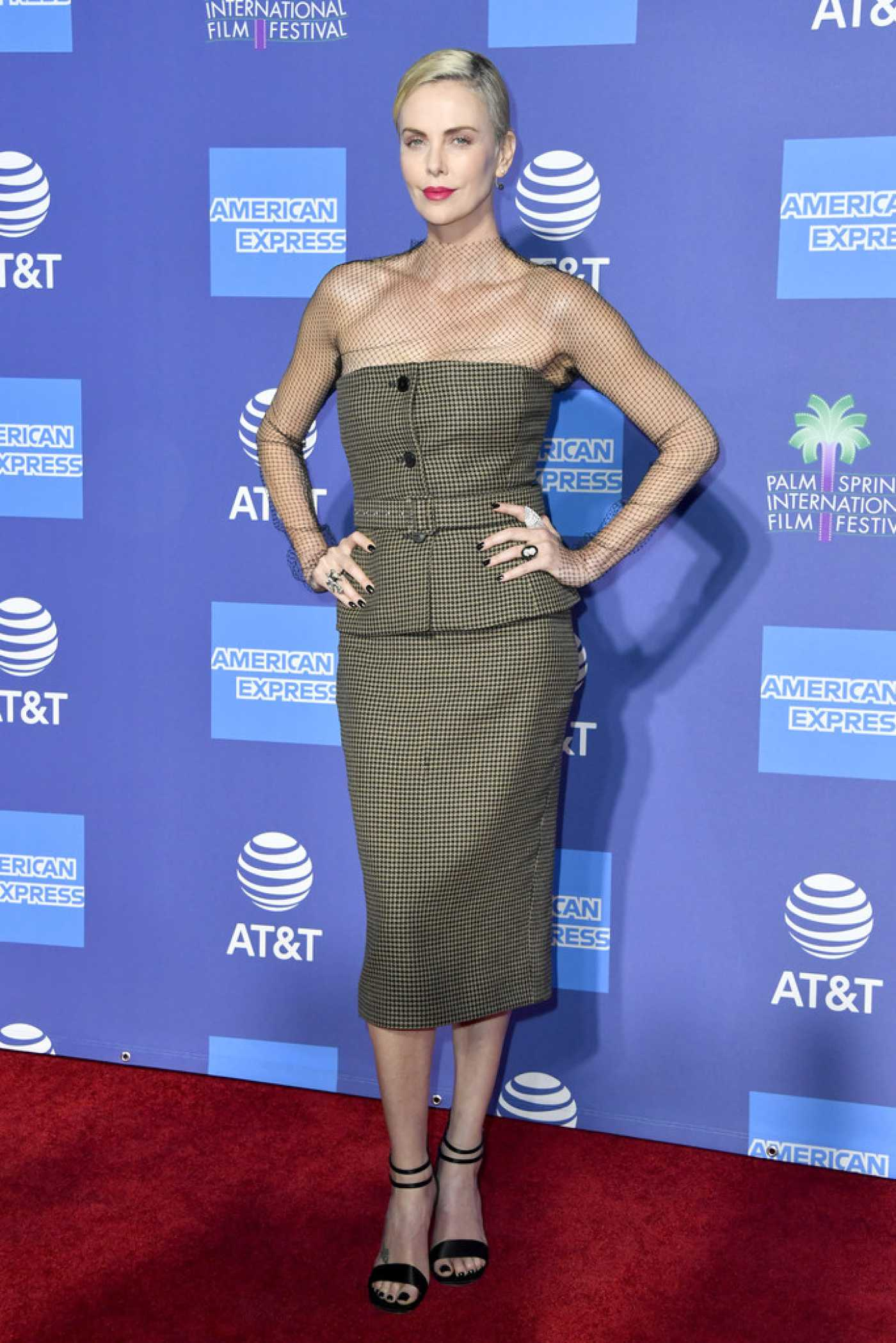 Charlize Theron Attends the 31st Annual Palm Springs International Film Festival in Palm Springs CA 01/02/2020