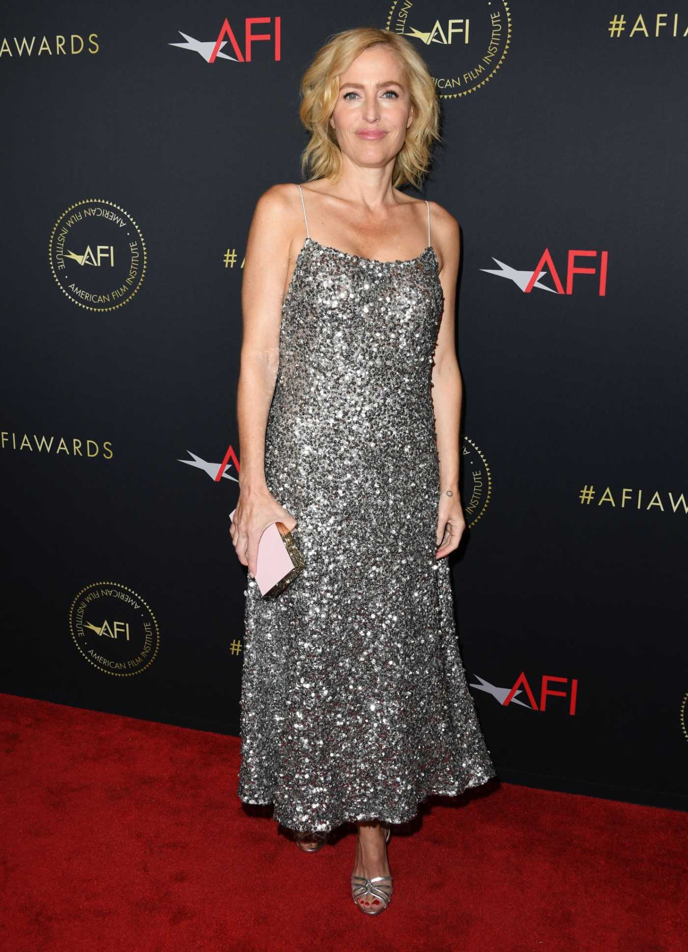 Gillian Anderson Attends the 20th Annual AFI Awards at Four Seasons Hotel Los Angeles in Beverly Hills 01/03/2020