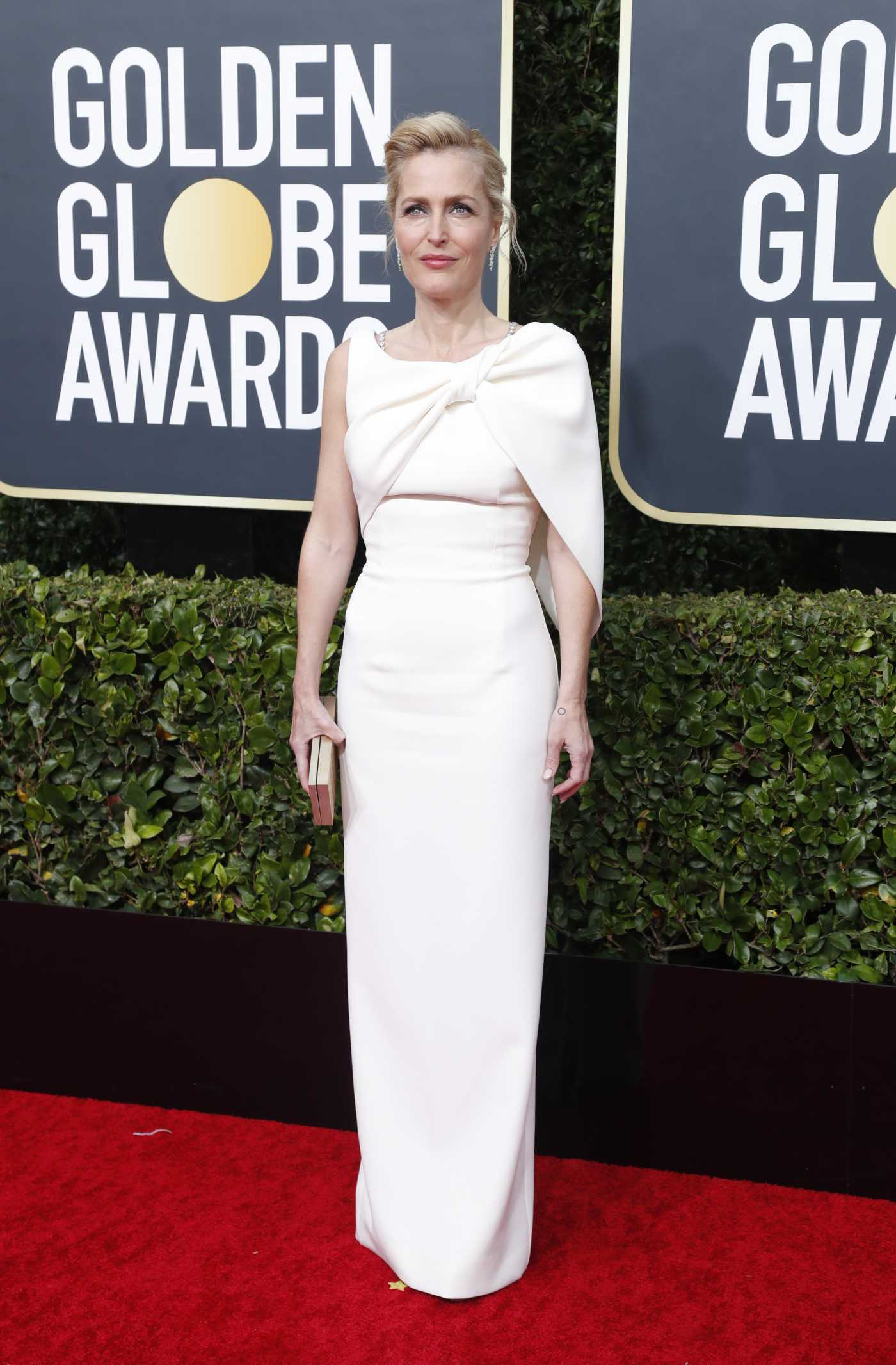 Gillian Anderson Attends the 77th Annual Golden Globe Awards at the Beverly Hilton Hotel in Beverly Hills 01/05/2020