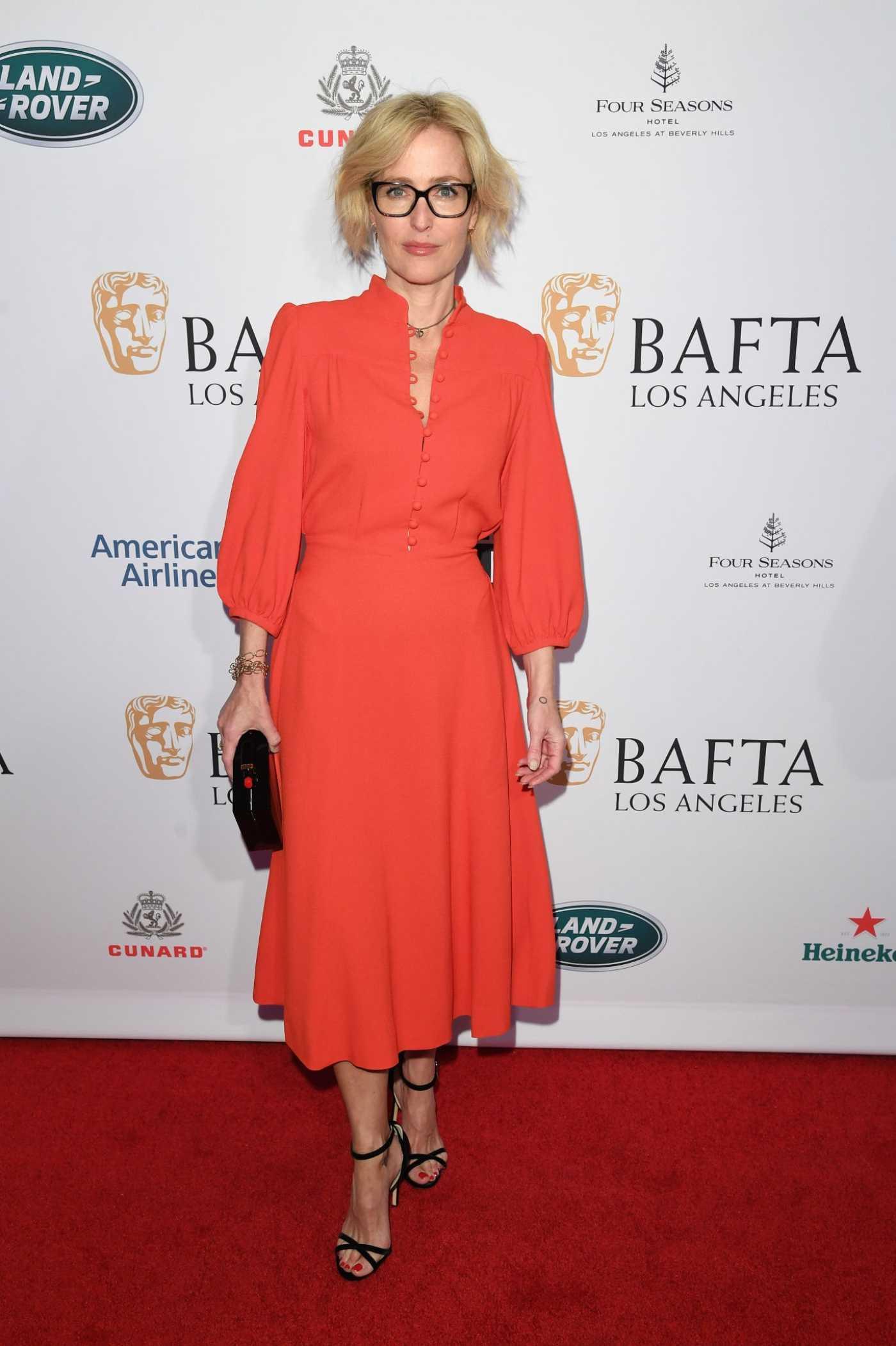 Gillian Anderson Attends the BAFTA Los Angeles Tea Party in Los Angeles 04/01/2020