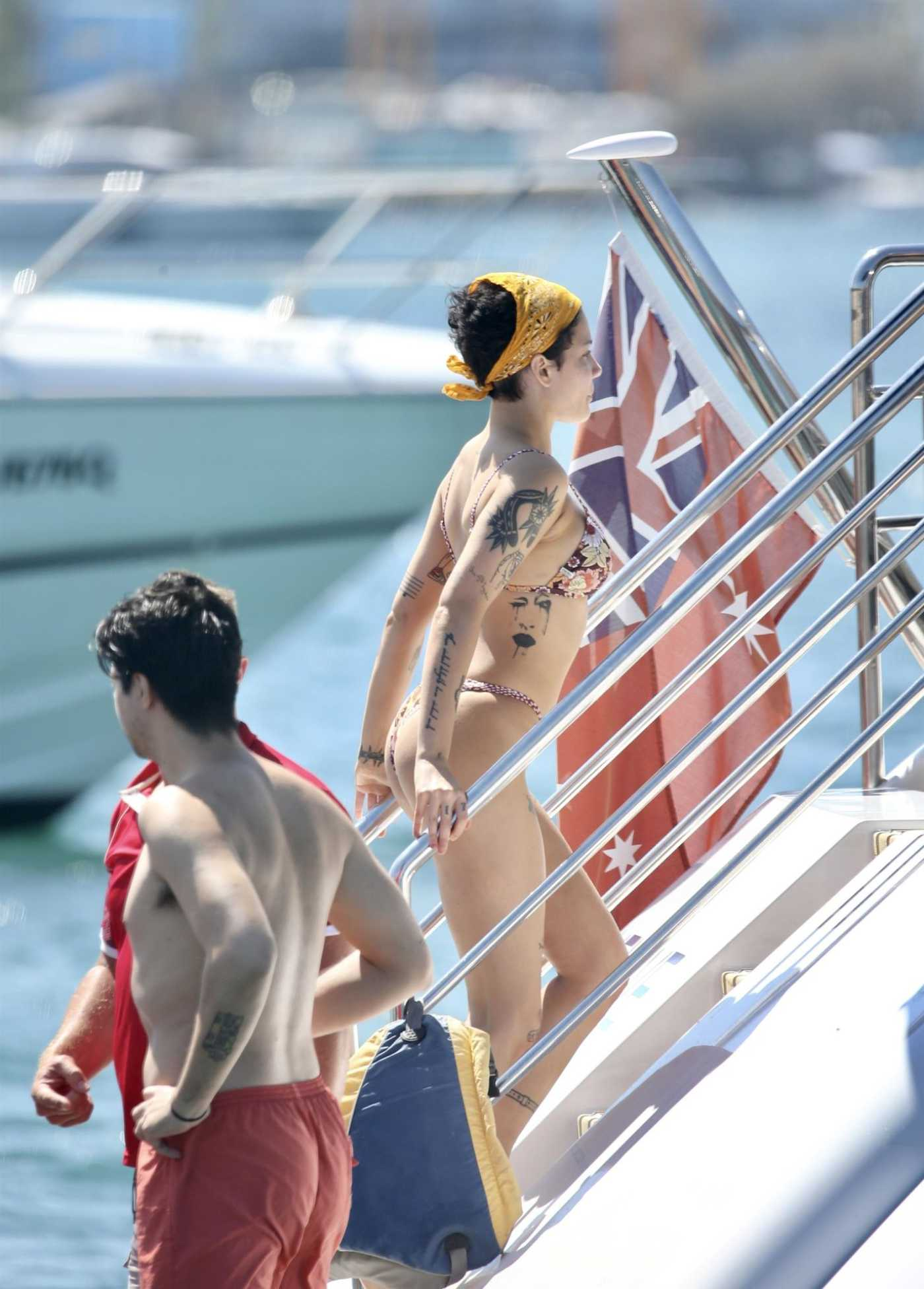 Halsey in Bikini on the Boat in The Gold Coast 01/03/2020