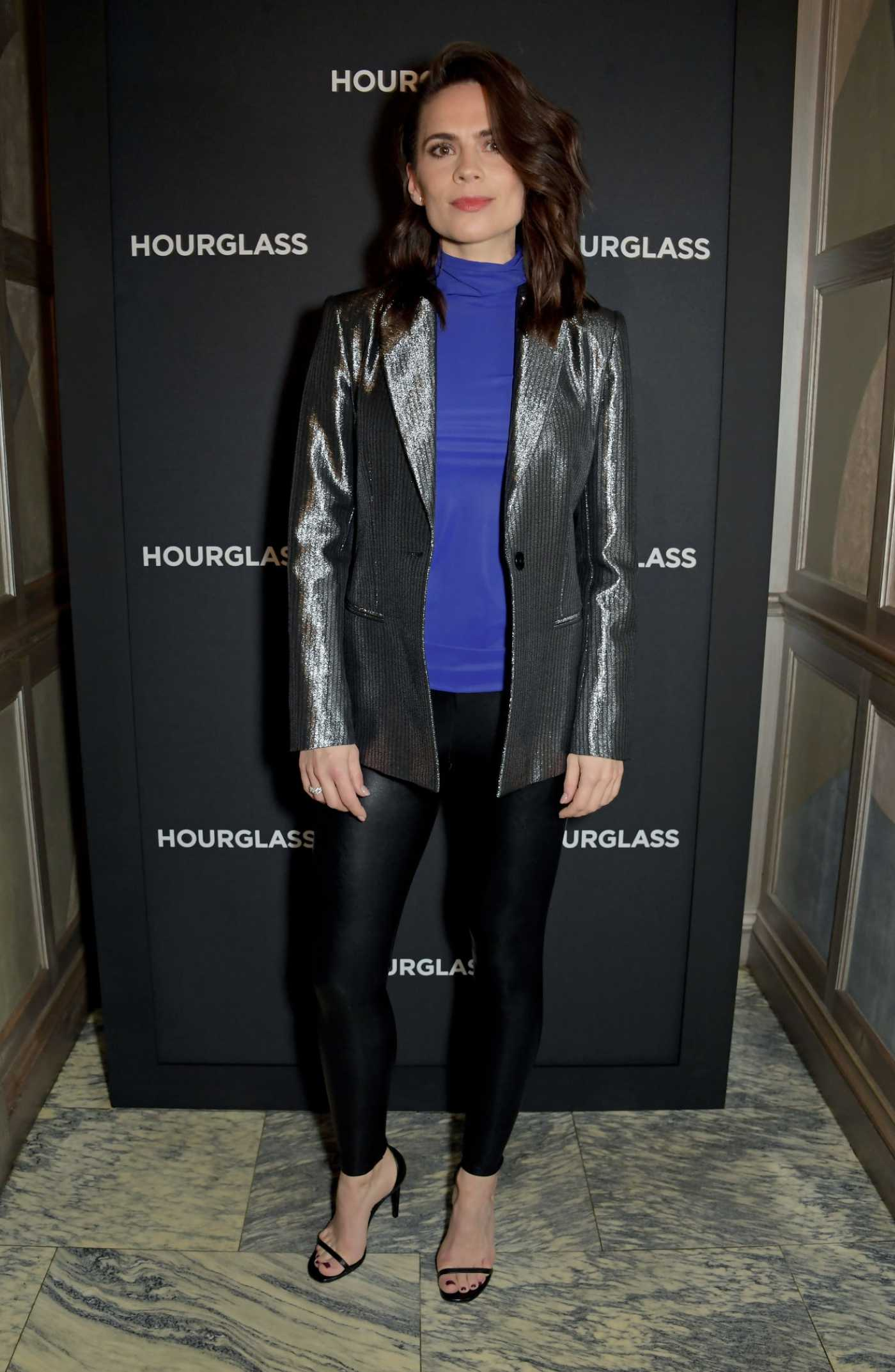 Hayley Atwell Attends the Hourglass Vanish Airbrush Concealer Launch Event in London 01/22/2020
