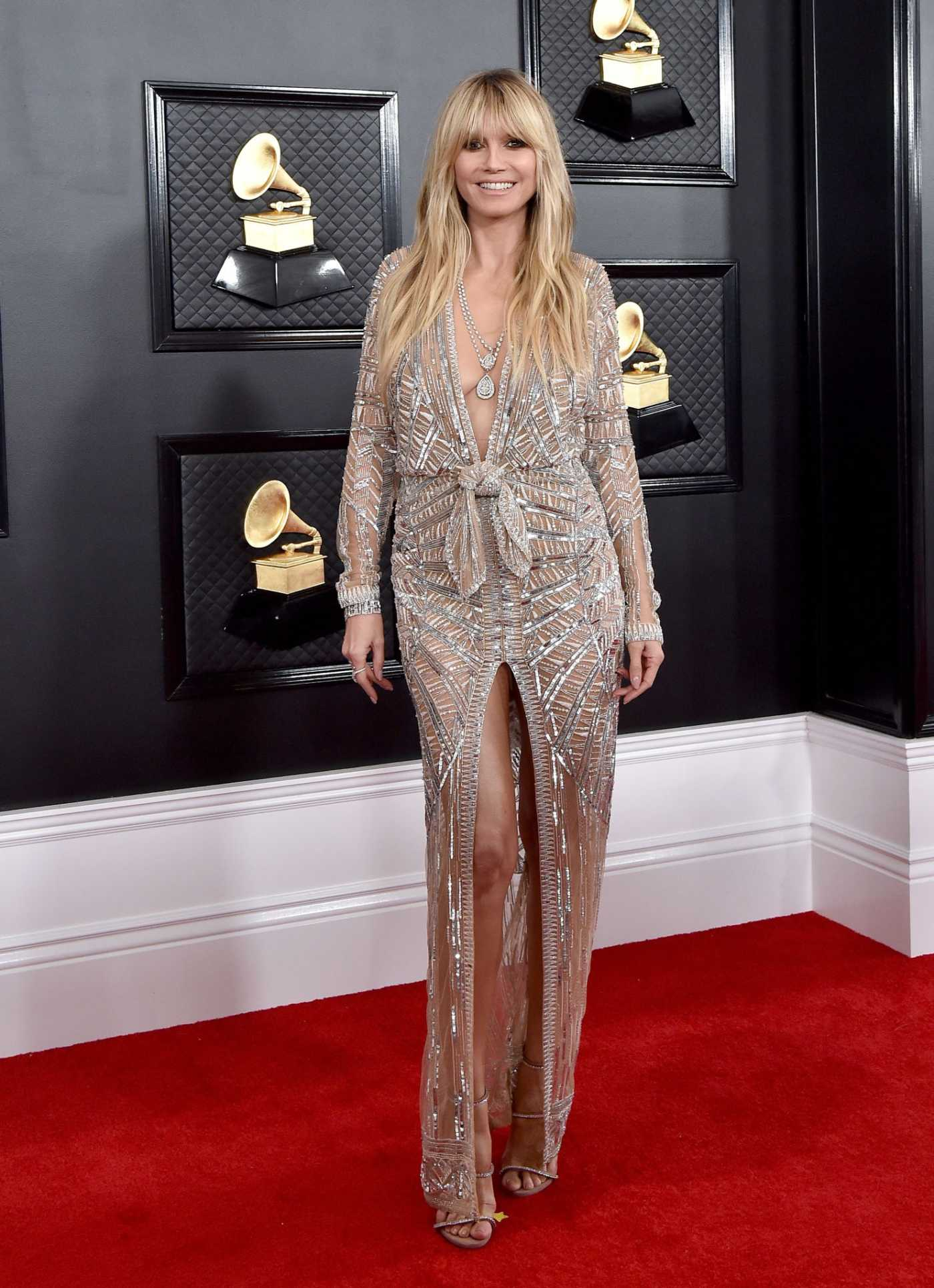 Heidi Klum Attends the 62nd Annual Grammy Awards at Staples Center in Los Angeles 01/26/2020