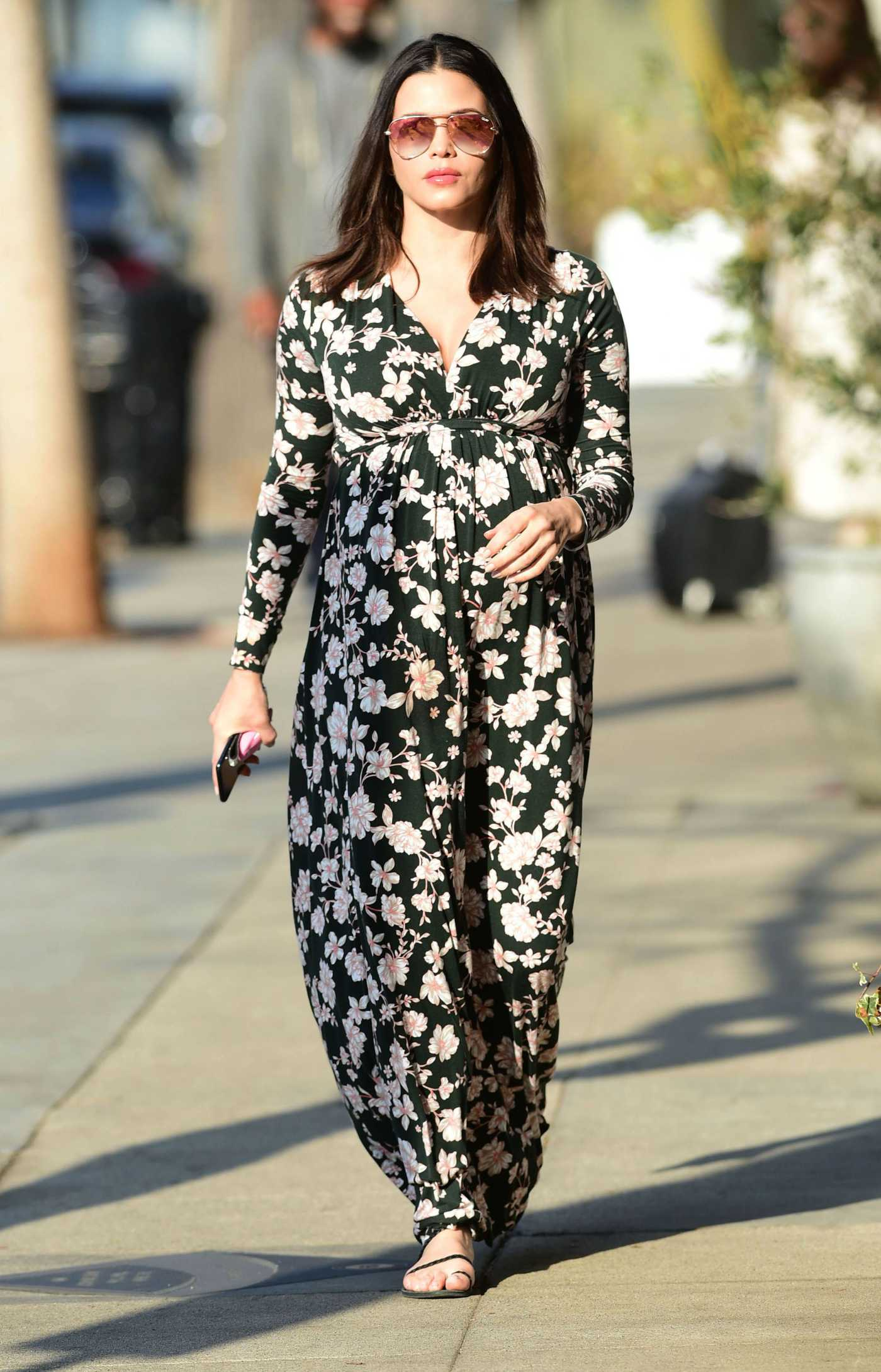 Jenna Dewan in a Long Floral Dress Was Seen Out in Los Angeles 01/15/2020