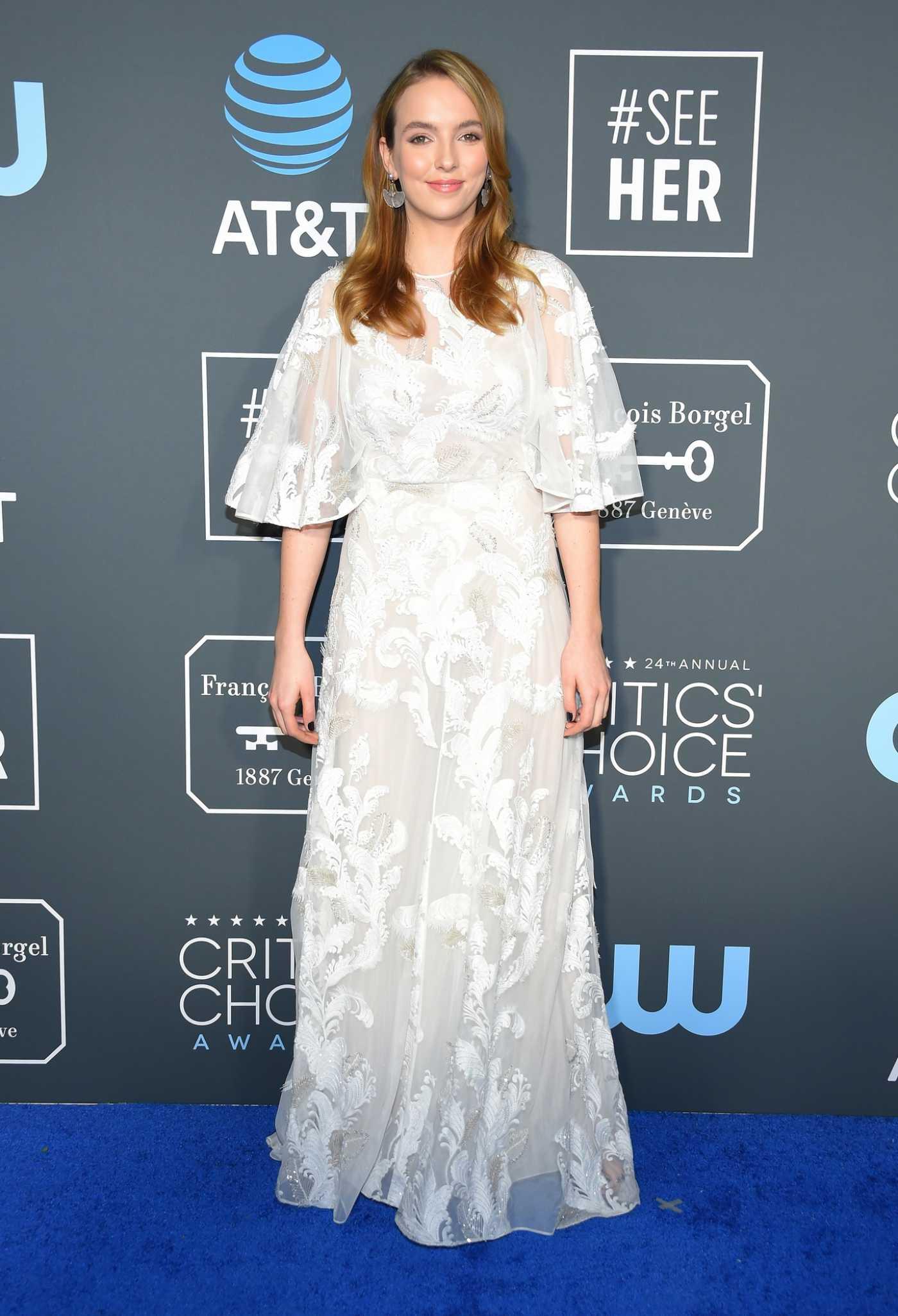 Jodie Comer Attends the 25th Annual Critics Choice Awards in Santa Monica 01/12/2020