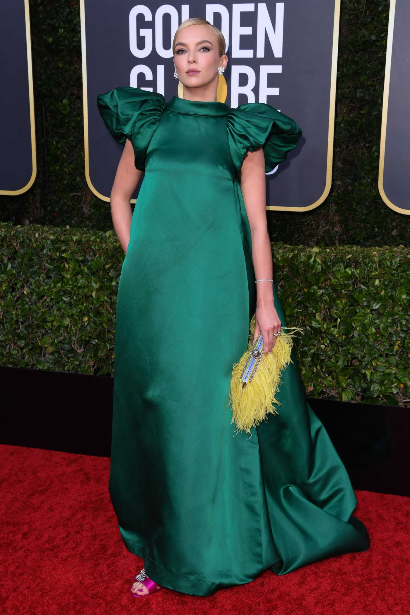 Jodie Comer Attends the 77th Annual Golden Globe Awards at the Beverly Hilton Hotel in Beverly Hills 01/05/2020