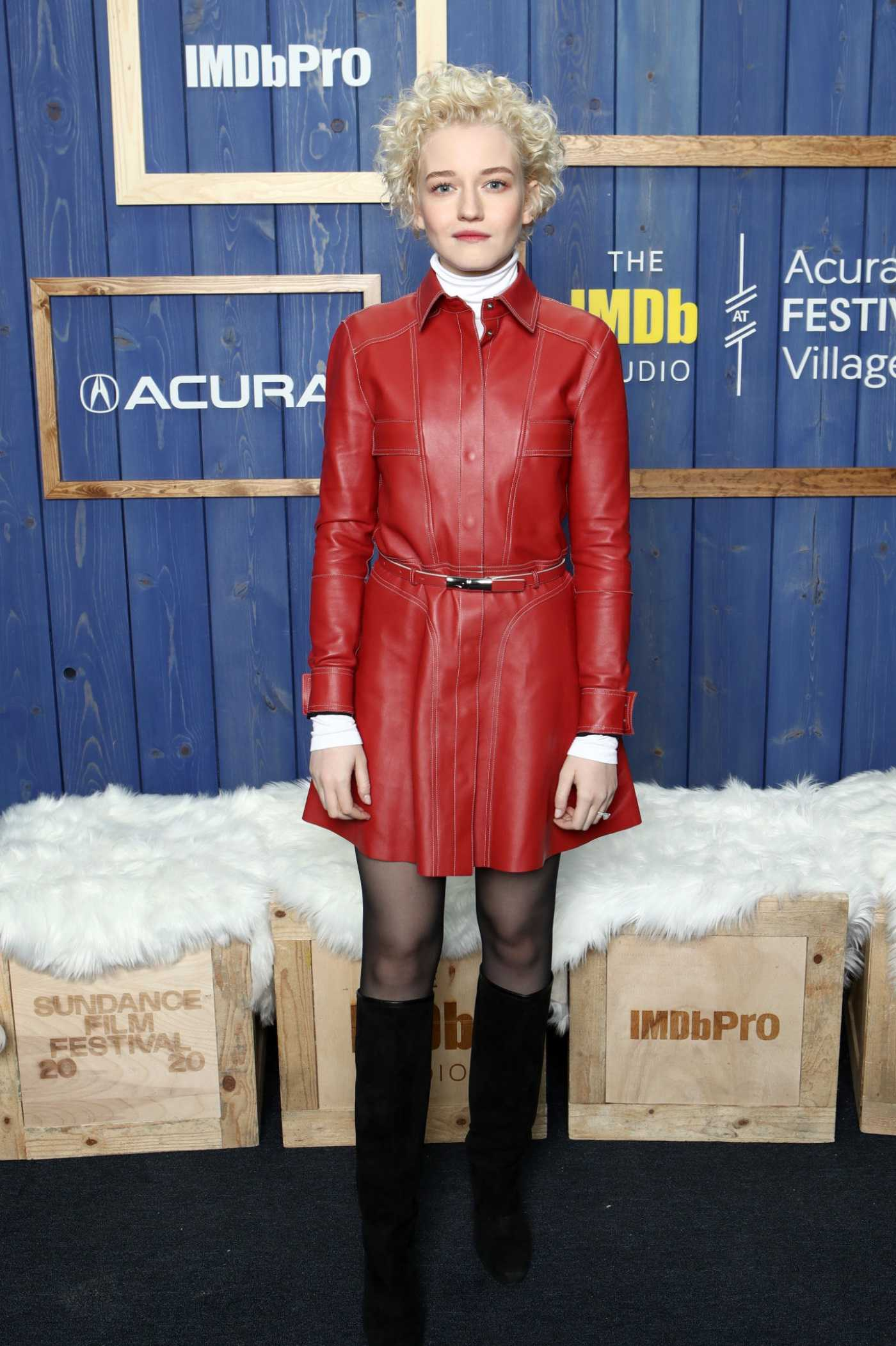 Julia Garner Attends the IMDb Studio at Acura Festival Village in Park City 01/26/2020