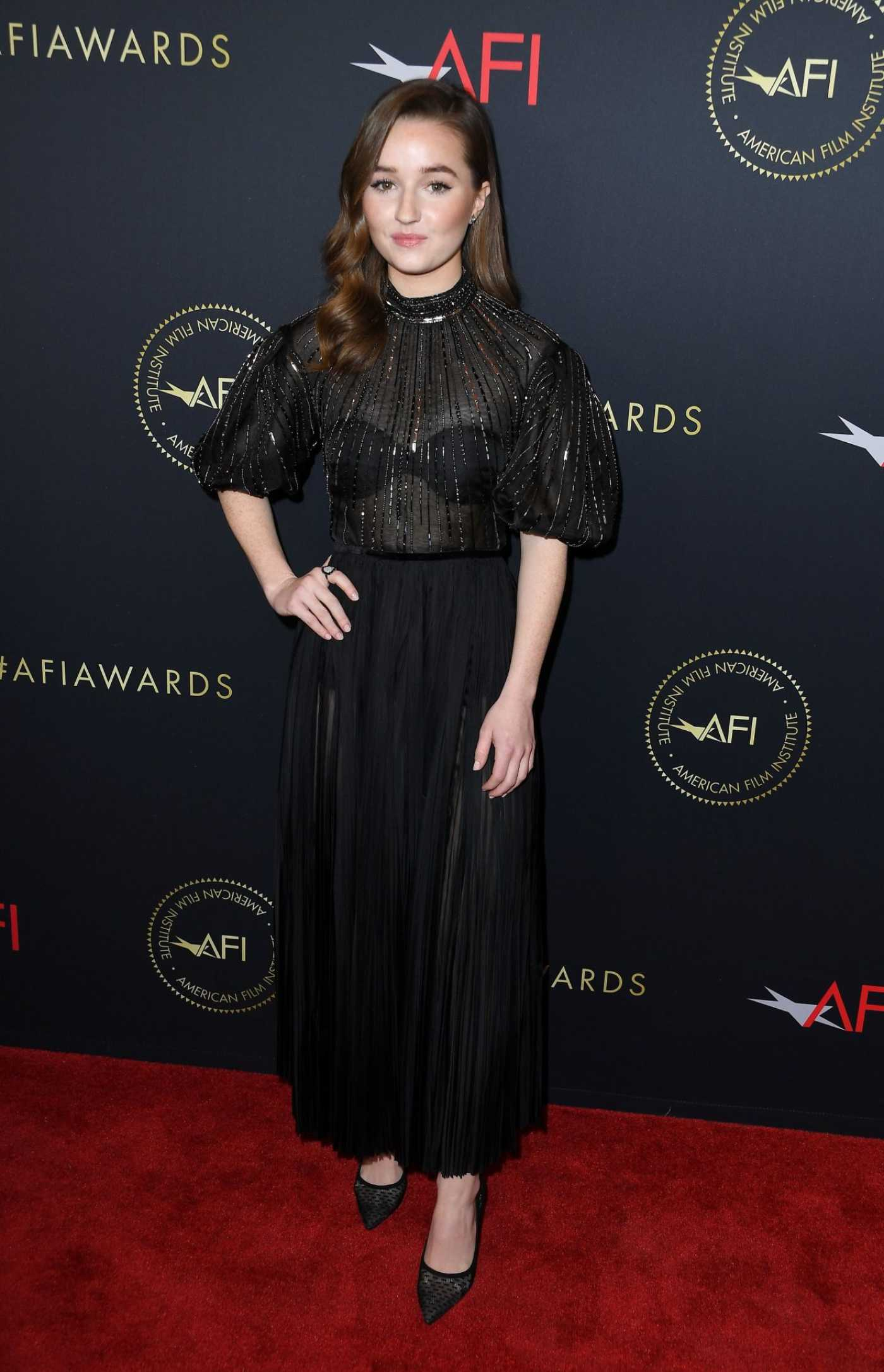 Kaitlyn Dever Attends the 20th Annual AFI Awards at Four Seasons Hotel Los Angeles in Beverly Hills 01/03/2020