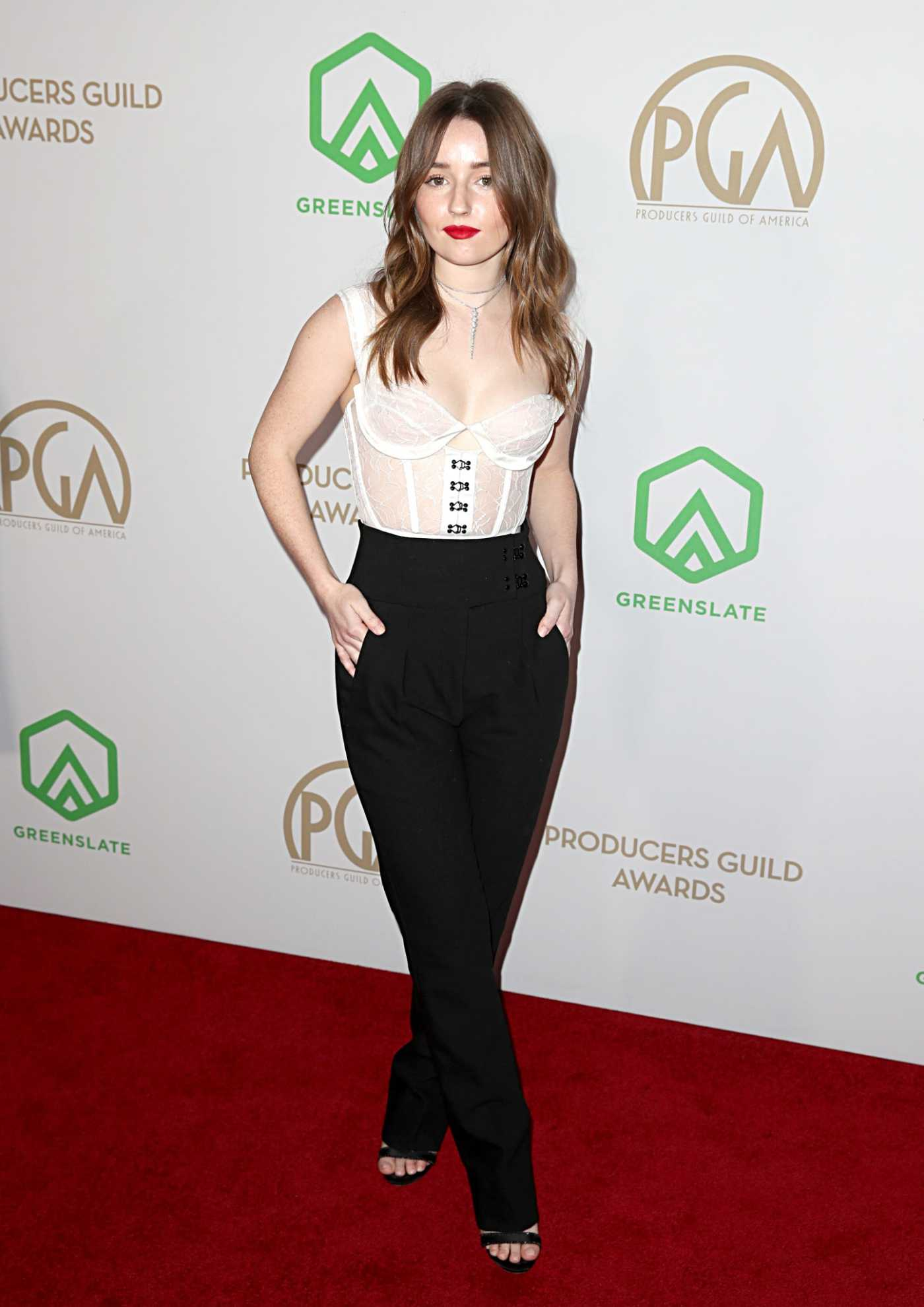 Kaitlyn Dever Attends the 31st Annual Producers Guild Awards in Los Angeles 01/18/2020