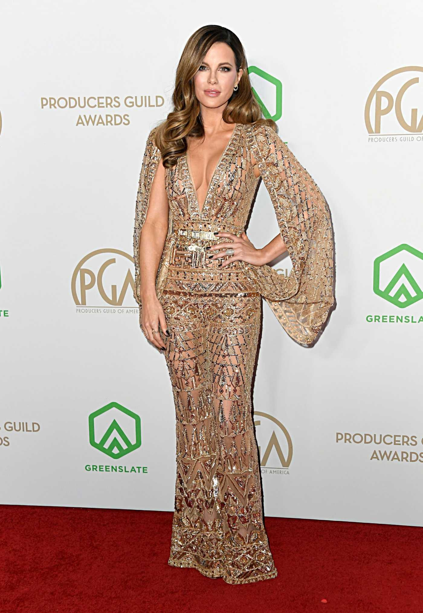 Kate Beckinsale Attends the 31st Annual Producers Guild Awards in Los Angeles 01/18/2020