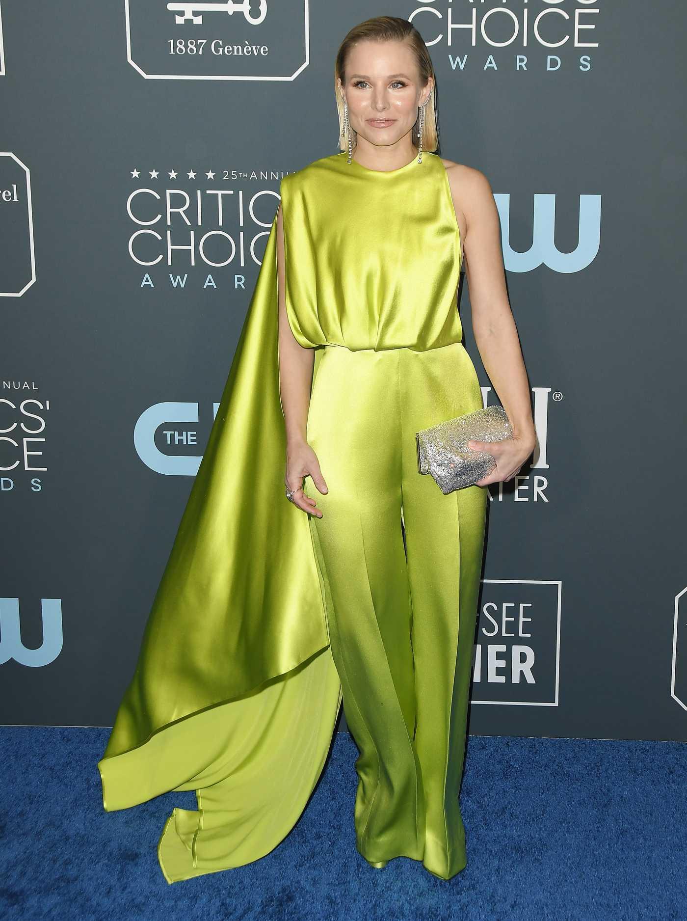 Kristen Bell Attends the 25th Annual Critics Choice Awards in Santa Monica 01/12/2020