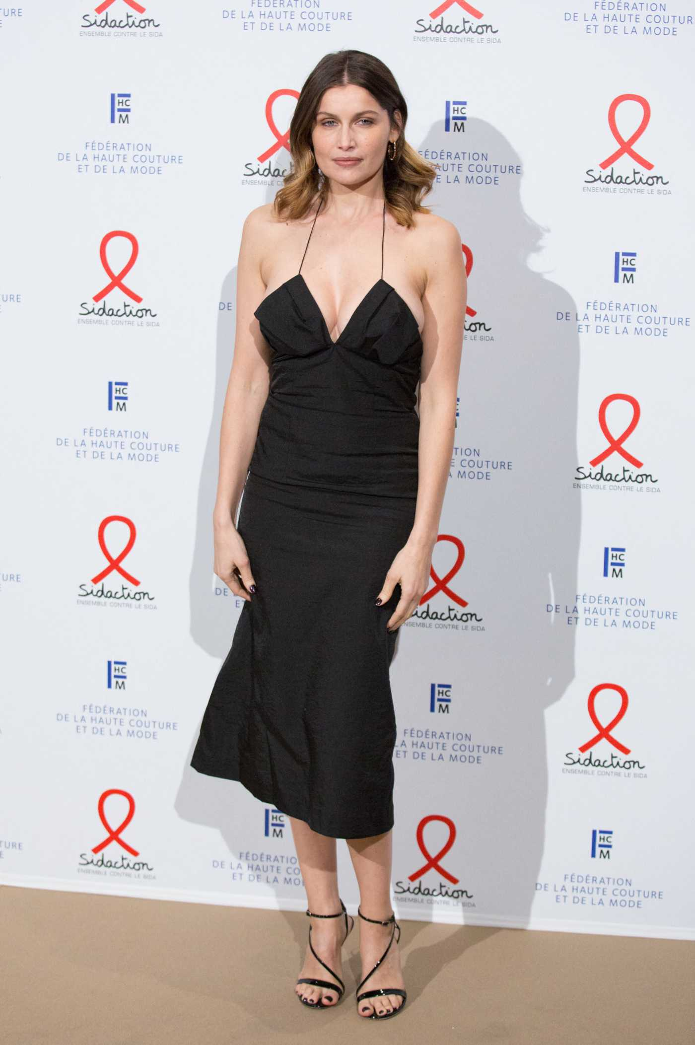 Laetitia Casta Attends the 18th Fashion Dinner For AIDS Sidaction Association In Paris 01/23/2020